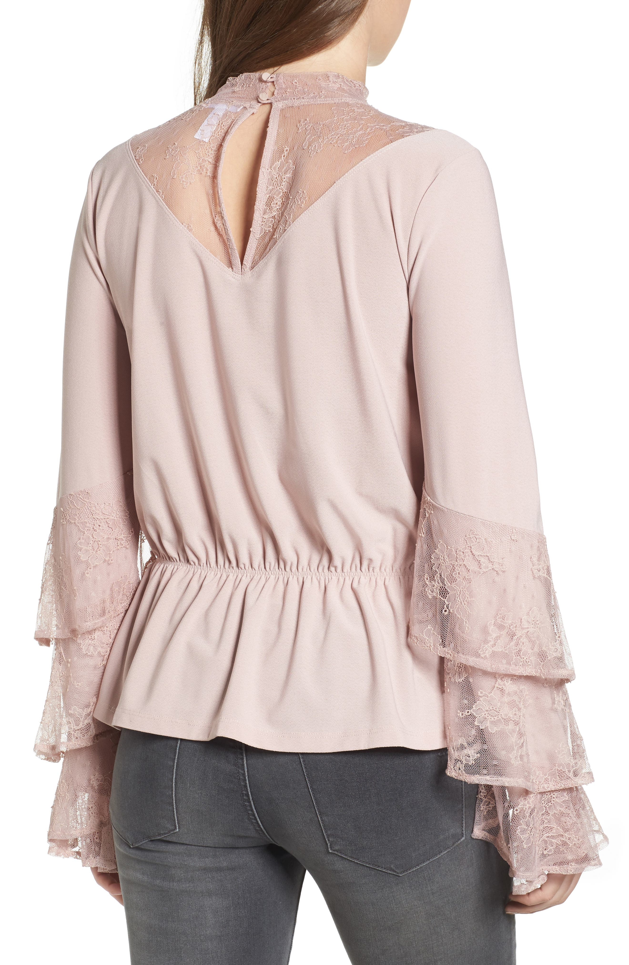 Spiral Lace Top,                             Alternate thumbnail 2, color,                             680