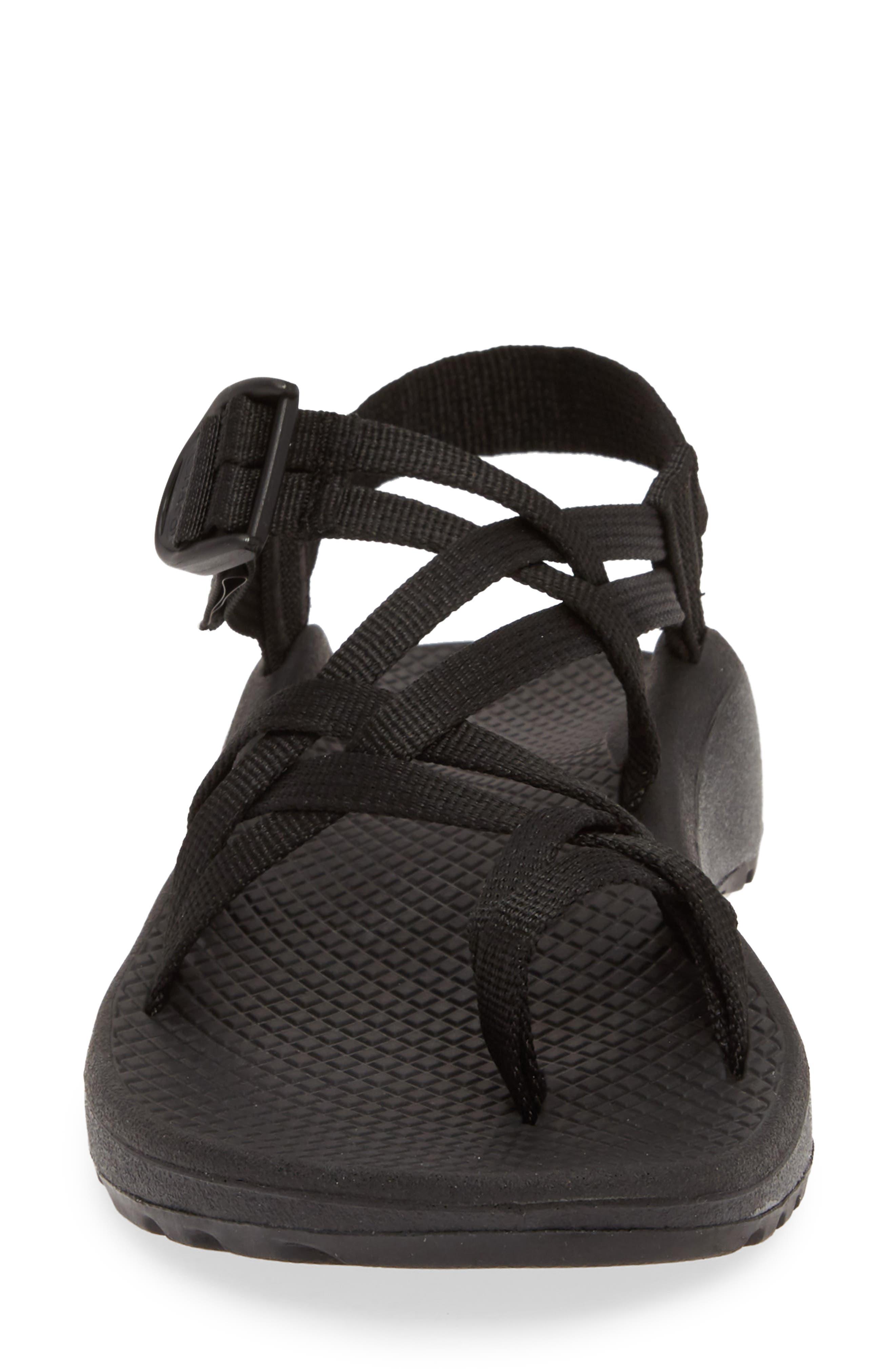 CHACO,                             Z/Cloud X2 Sandal,                             Alternate thumbnail 4, color,                             SOLID BLACK FABRIC