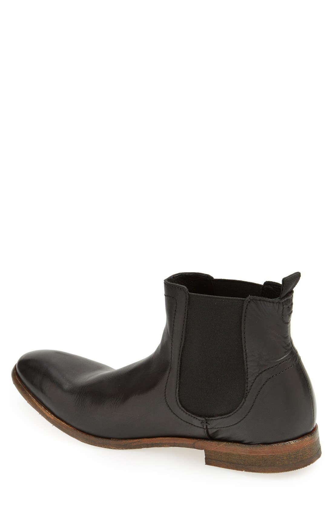 H BY HUDSON,                             'Patterson' Chelsea Boot,                             Alternate thumbnail 3, color,                             001