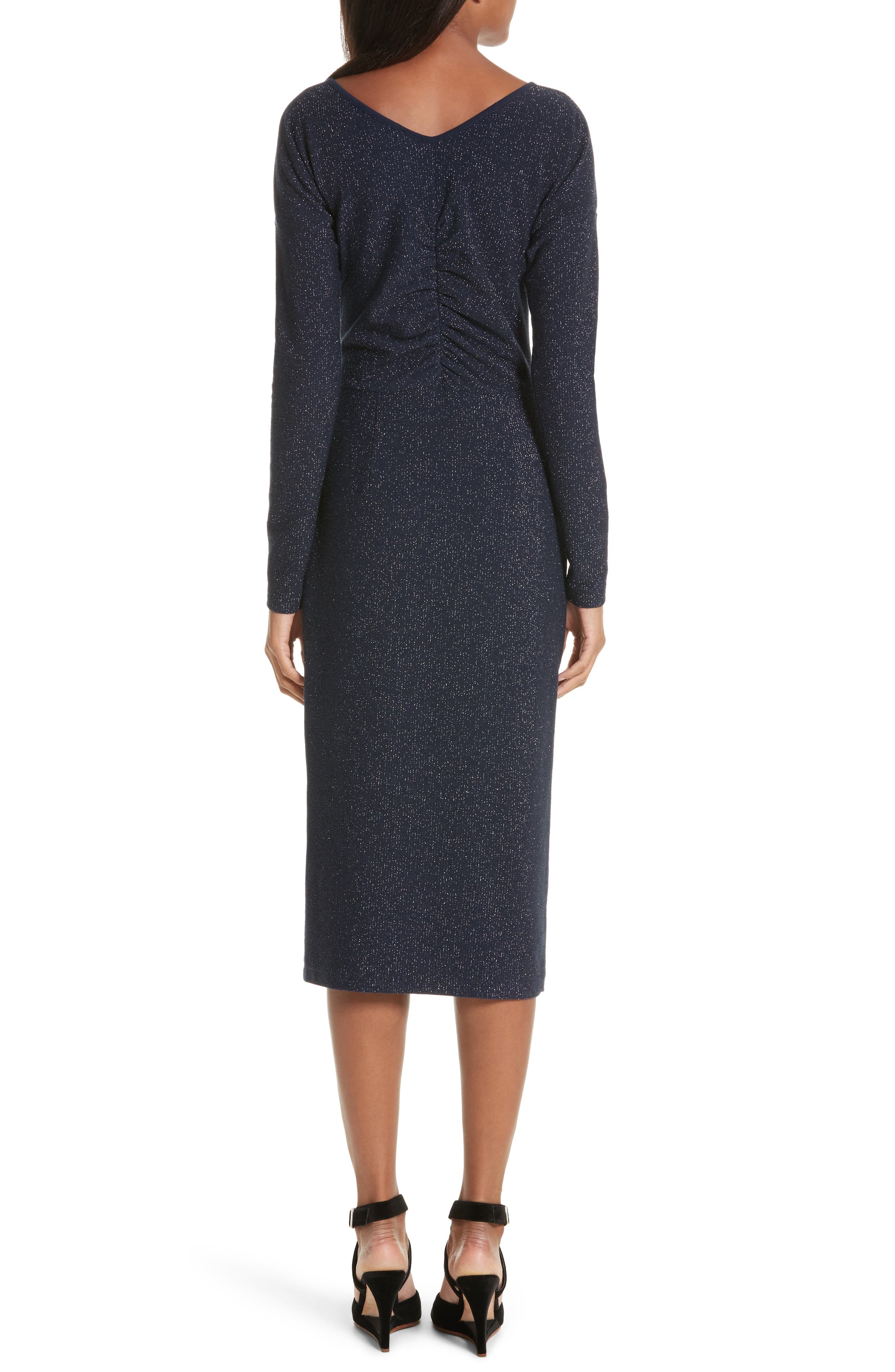Temper Metallic Knit Dress,                             Alternate thumbnail 2, color,                             401