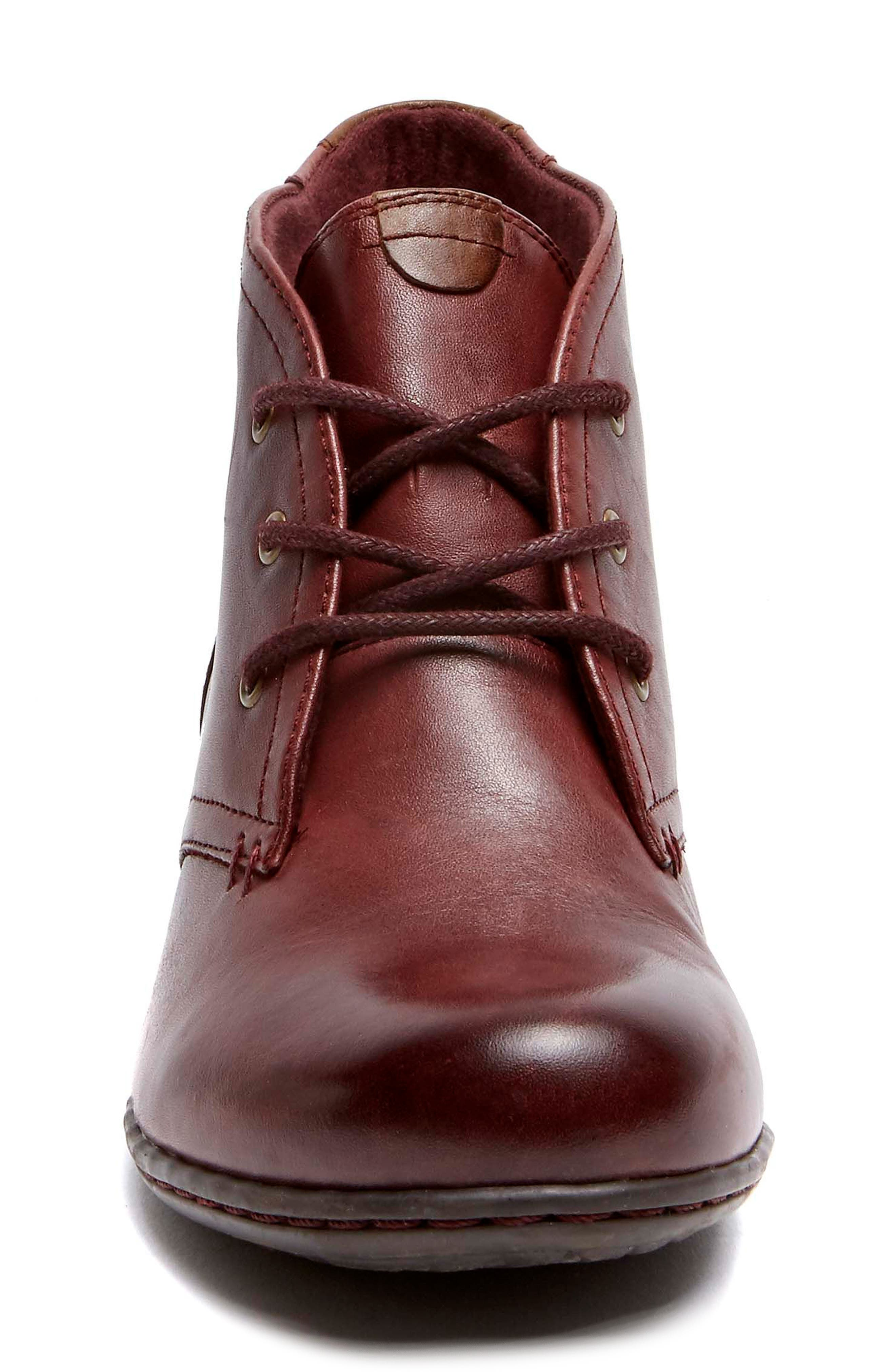Aria Leather Boot,                             Alternate thumbnail 4, color,                             MERLOT LEATHER
