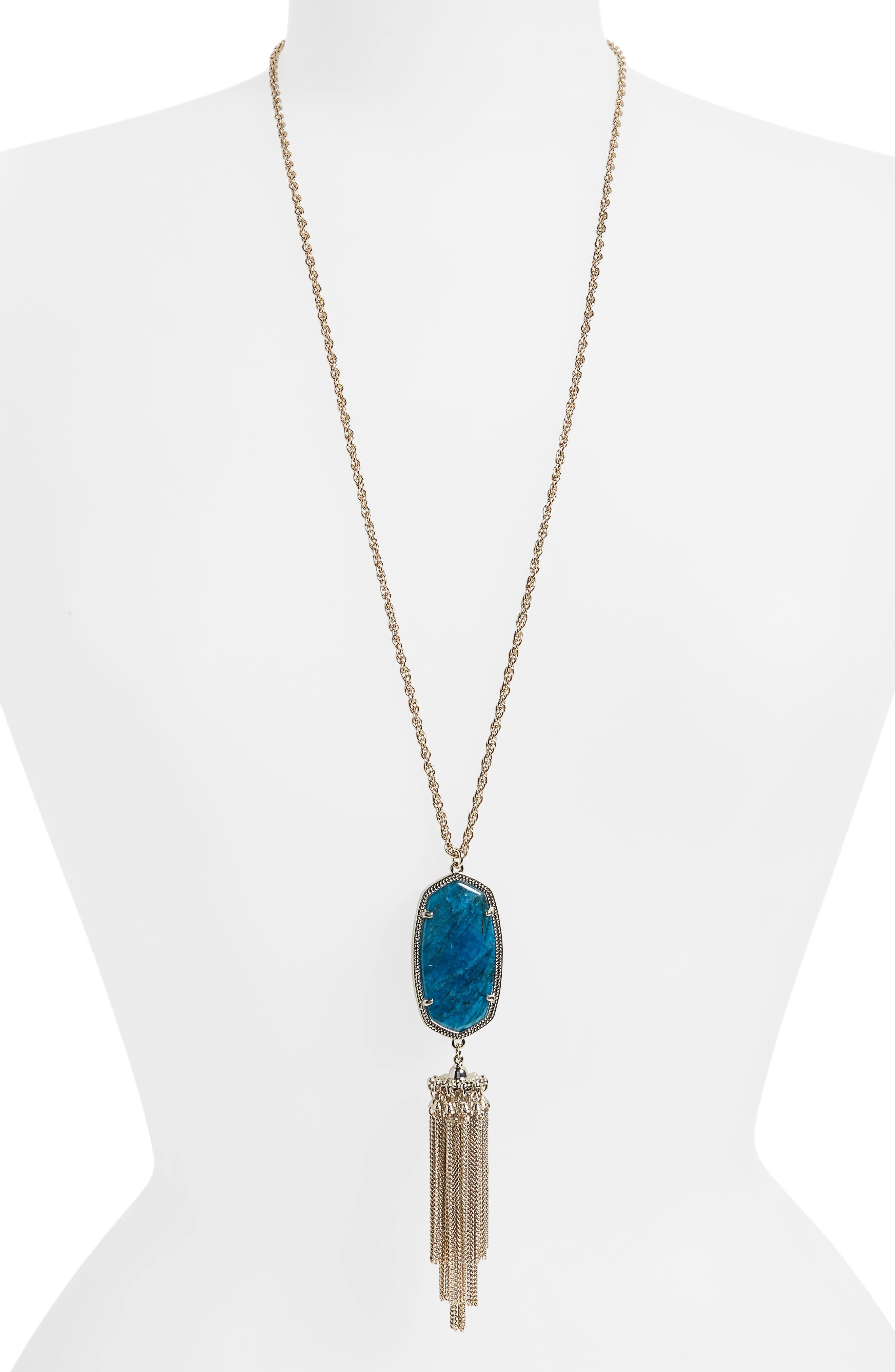Rayne Stone Tassel Pendant Necklace,                             Main thumbnail 11, color,