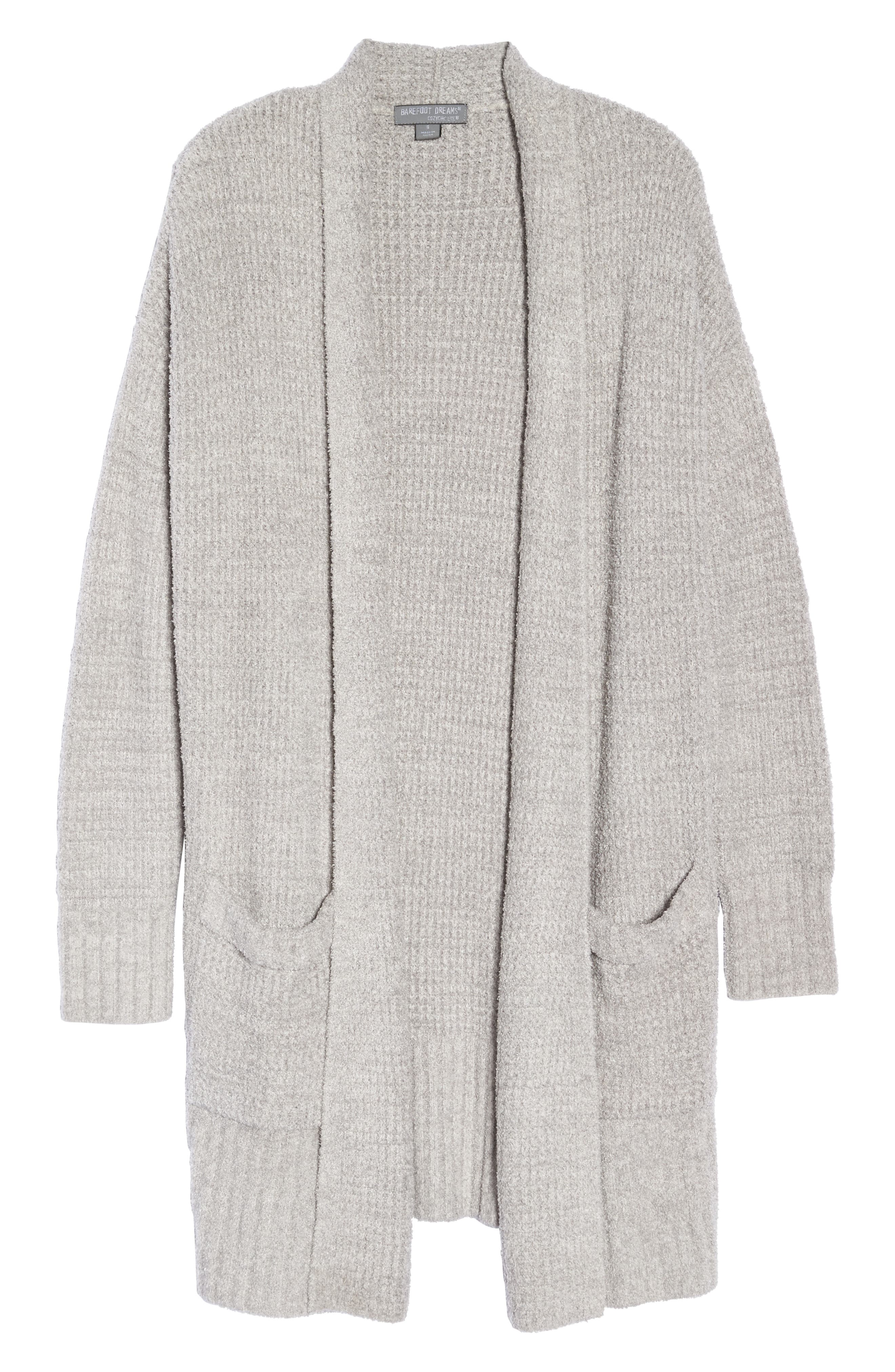 CozyChic<sup>®</sup> Lite Long Weekend Cardigan,                             Alternate thumbnail 6, color,                             PEWTER/ SILVER