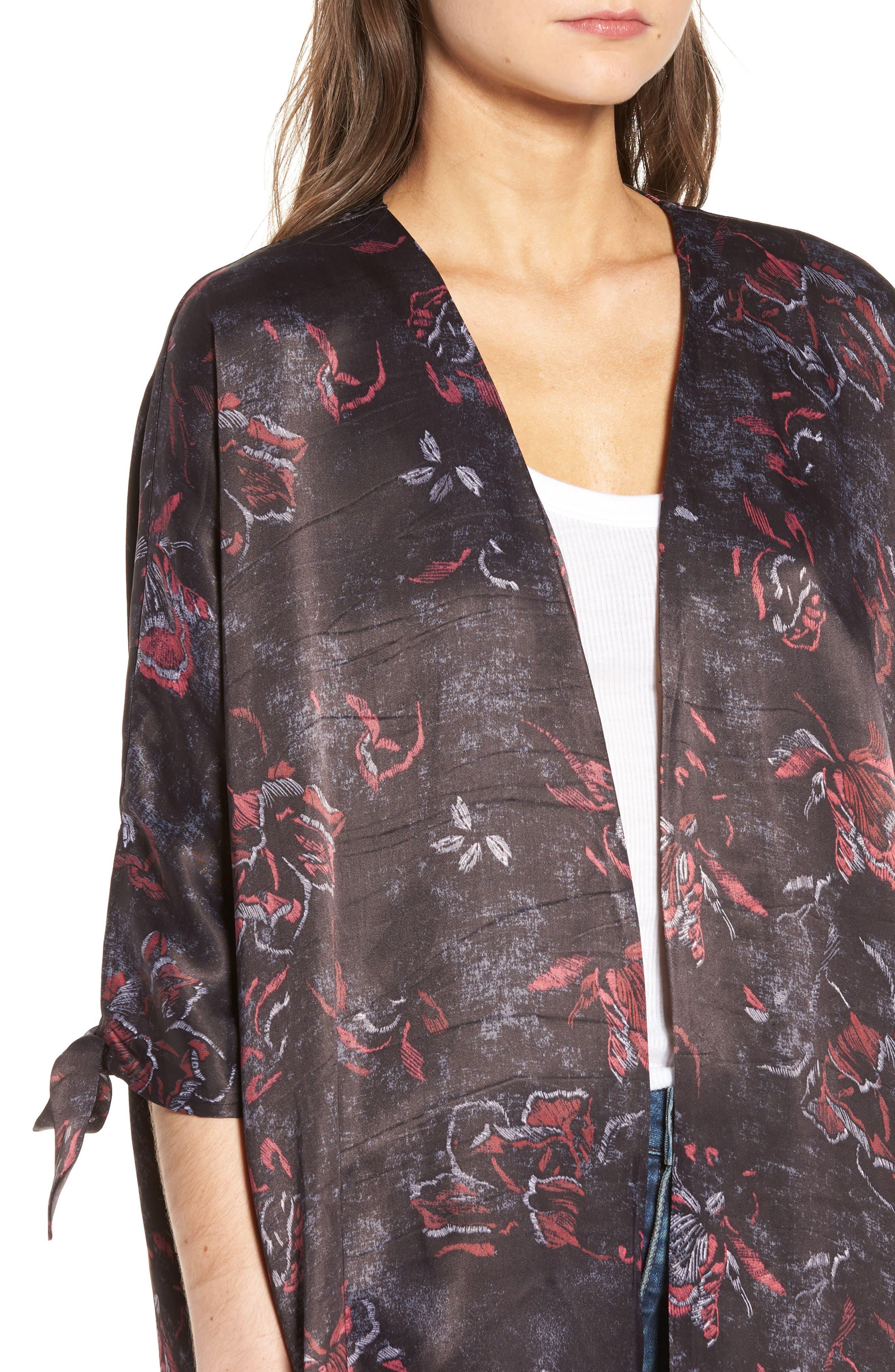 High/Low Kimono,                             Alternate thumbnail 4, color,                             001