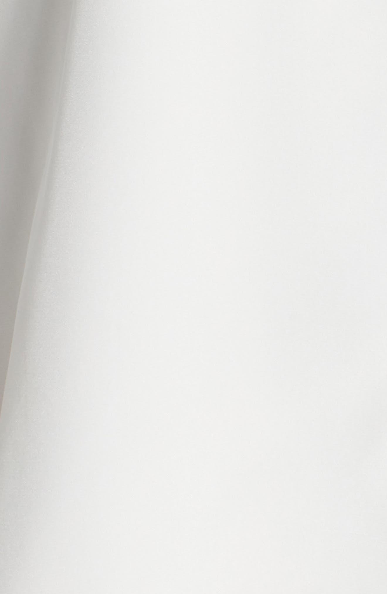 Lafayette 148 Nemy Pleated Bell Sleeve Silk Blouse,                             Alternate thumbnail 5, color,                             900