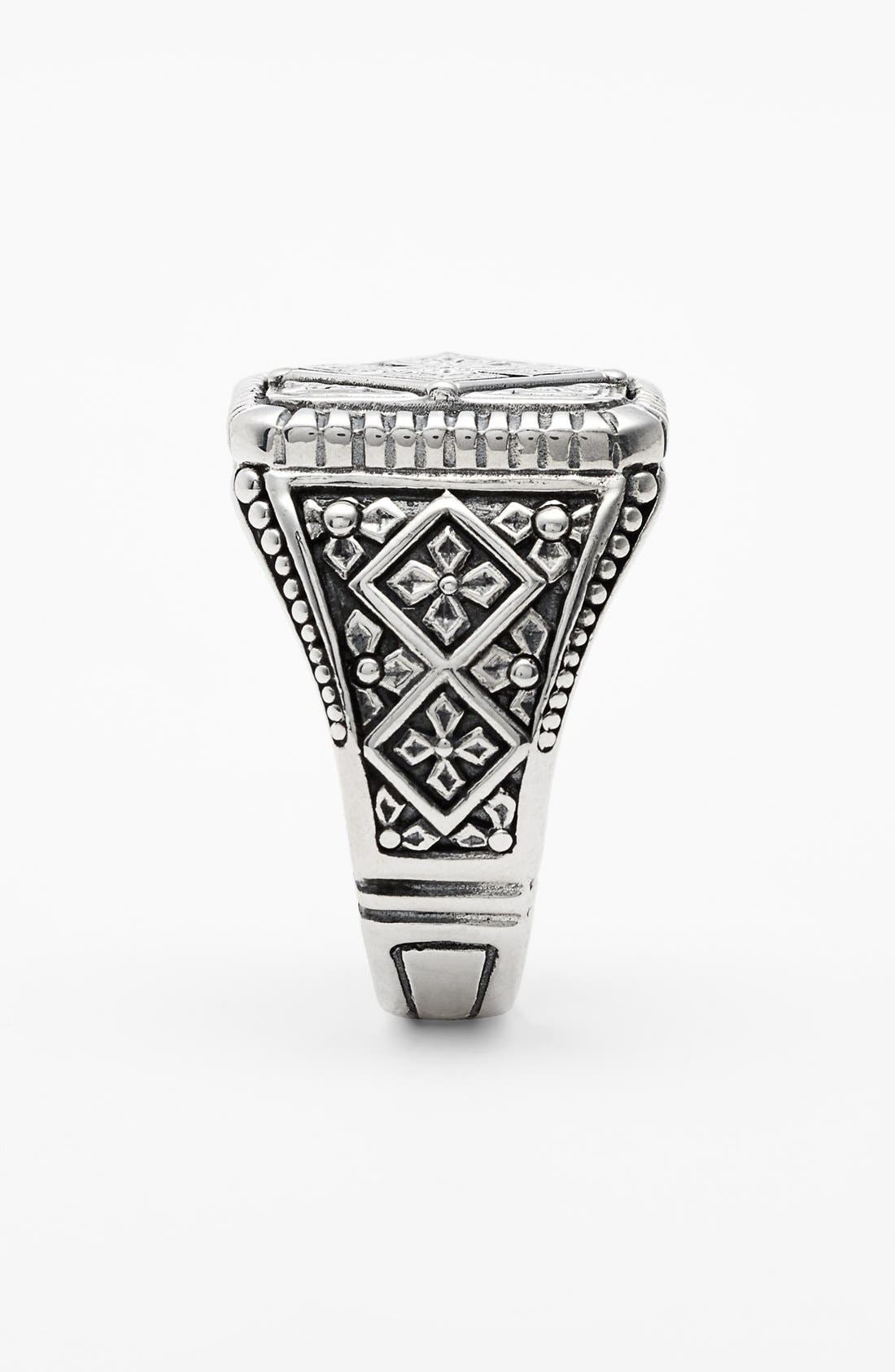 'Classics' Cross Square Ring,                             Alternate thumbnail 2, color,                             SILVER