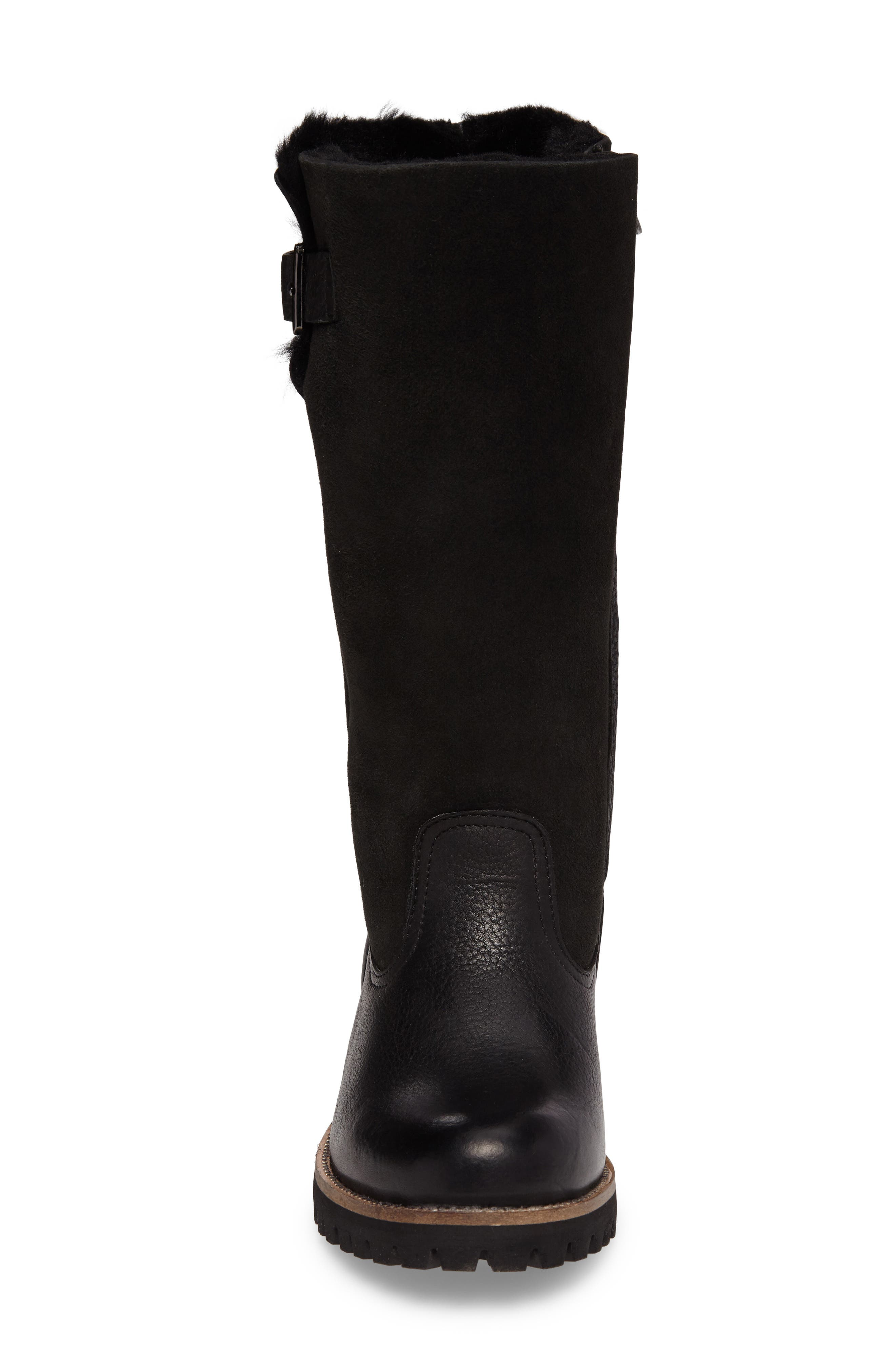 OL04 Tall Boot,                             Alternate thumbnail 4, color,                             BLACK SUEDE