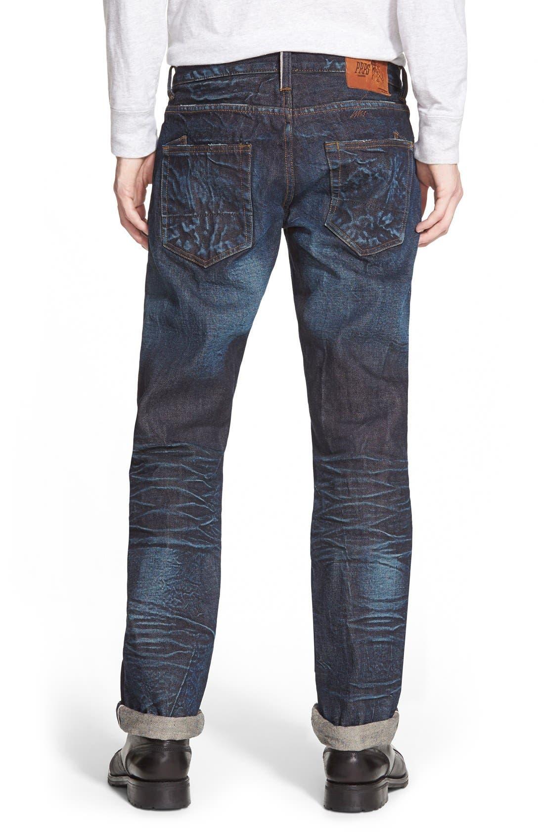 'Barracuda' Straight Leg Selvedge Jeans,                             Alternate thumbnail 2, color,