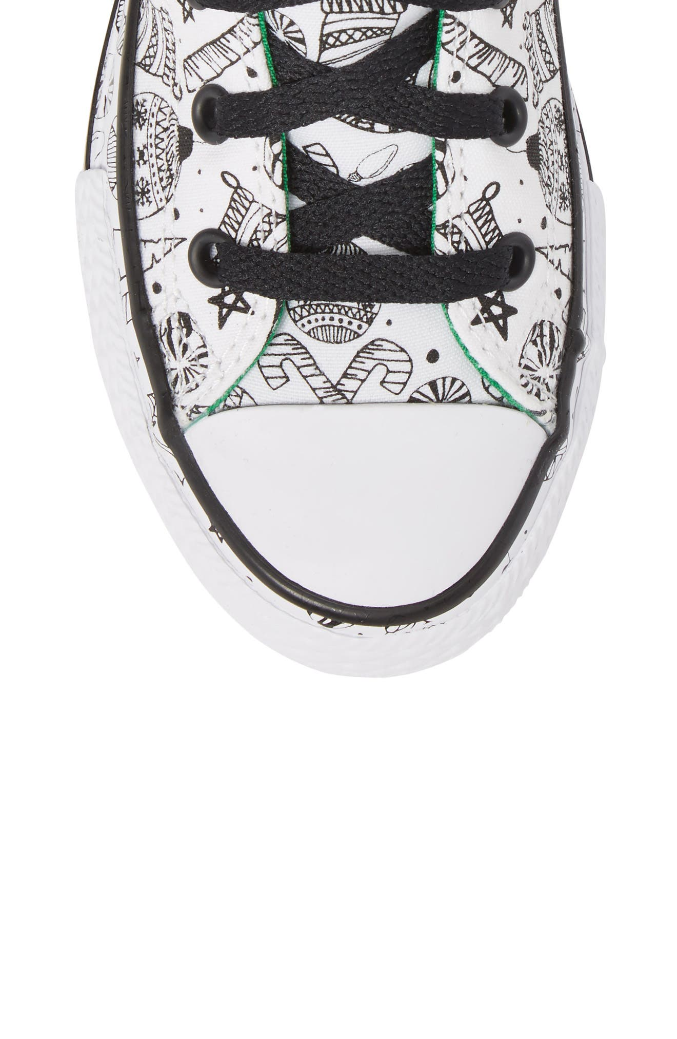 Chuck Taylor<sup>®</sup> All Star<sup>®</sup> Christmas Coloring Book High Top Sneaker,                             Alternate thumbnail 5, color,