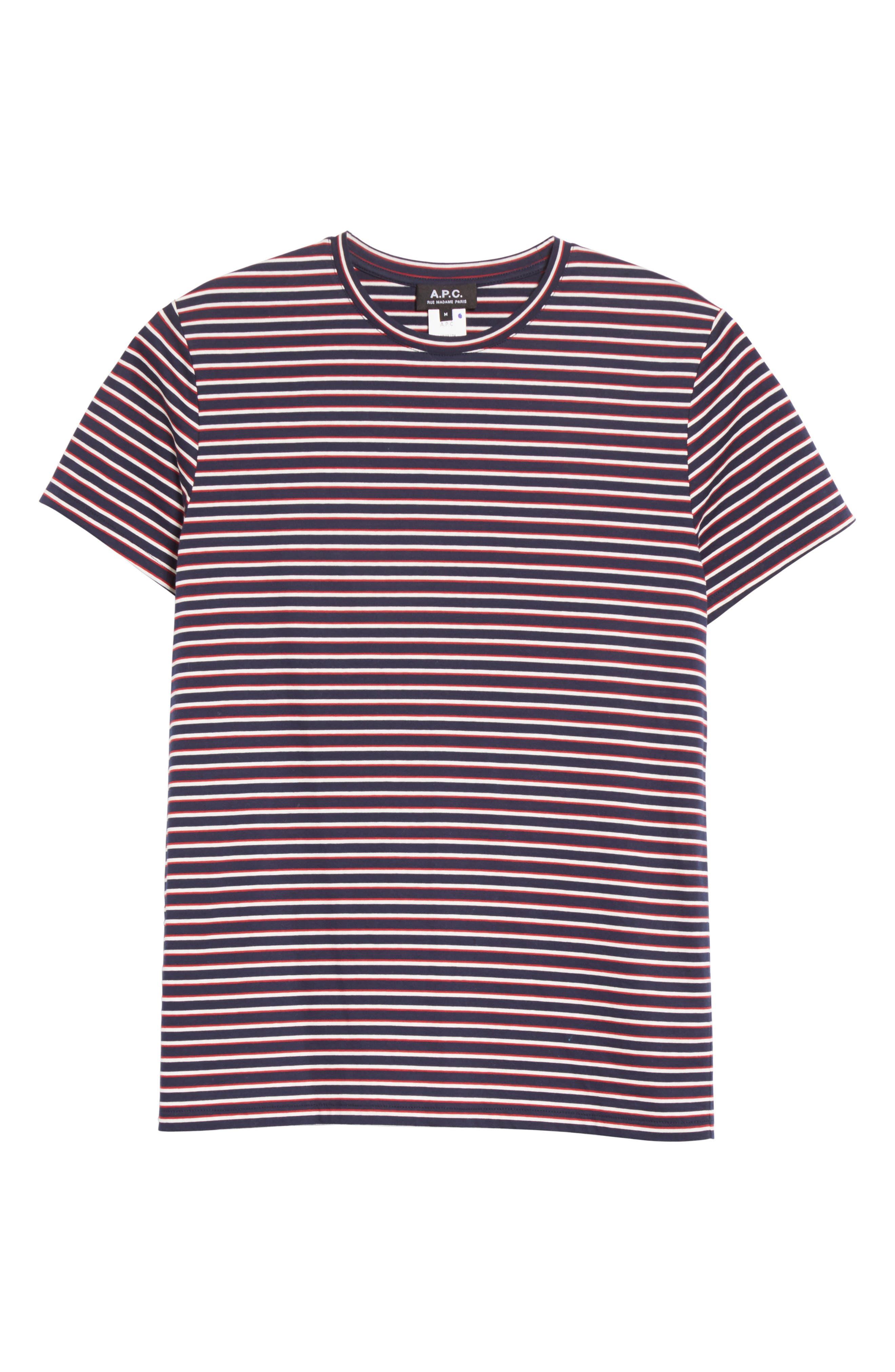 Elliot Stripe T-Shirt,                             Alternate thumbnail 6, color,                             420