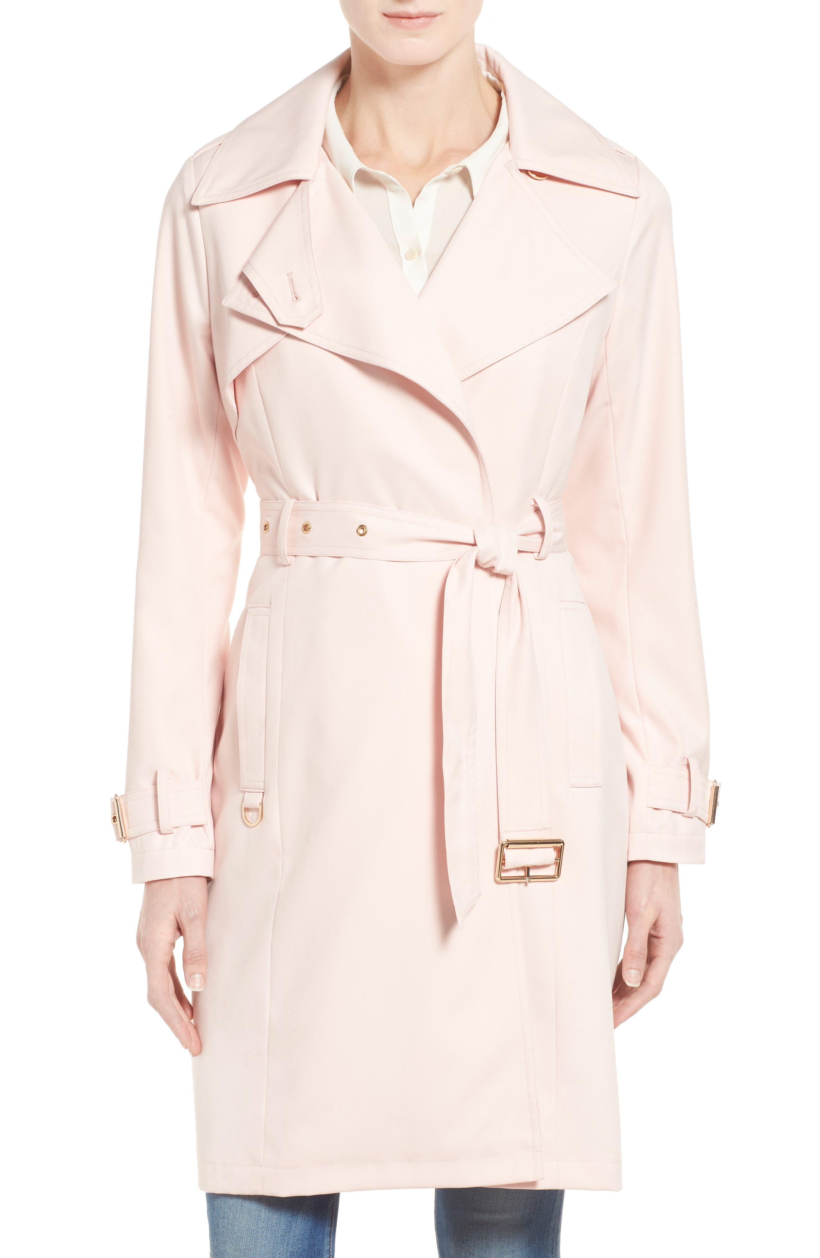 Flowy Belted Trench Coat,                             Main thumbnail 5, color,