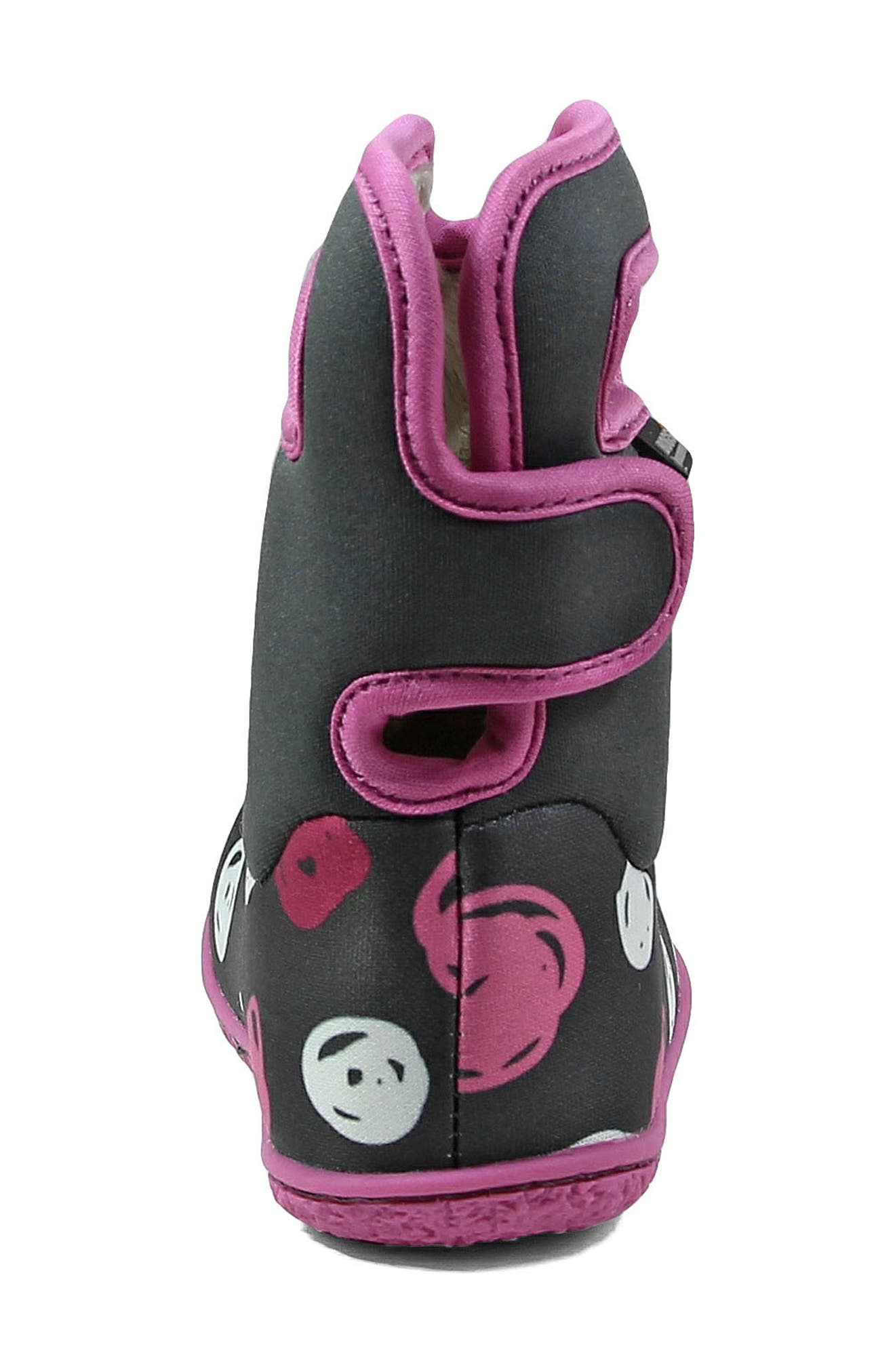 Baby Bogs Classic Sketched Dots Washable Insulated Waterproof Boot,                             Alternate thumbnail 7, color,                             DARK GRAY MULTI