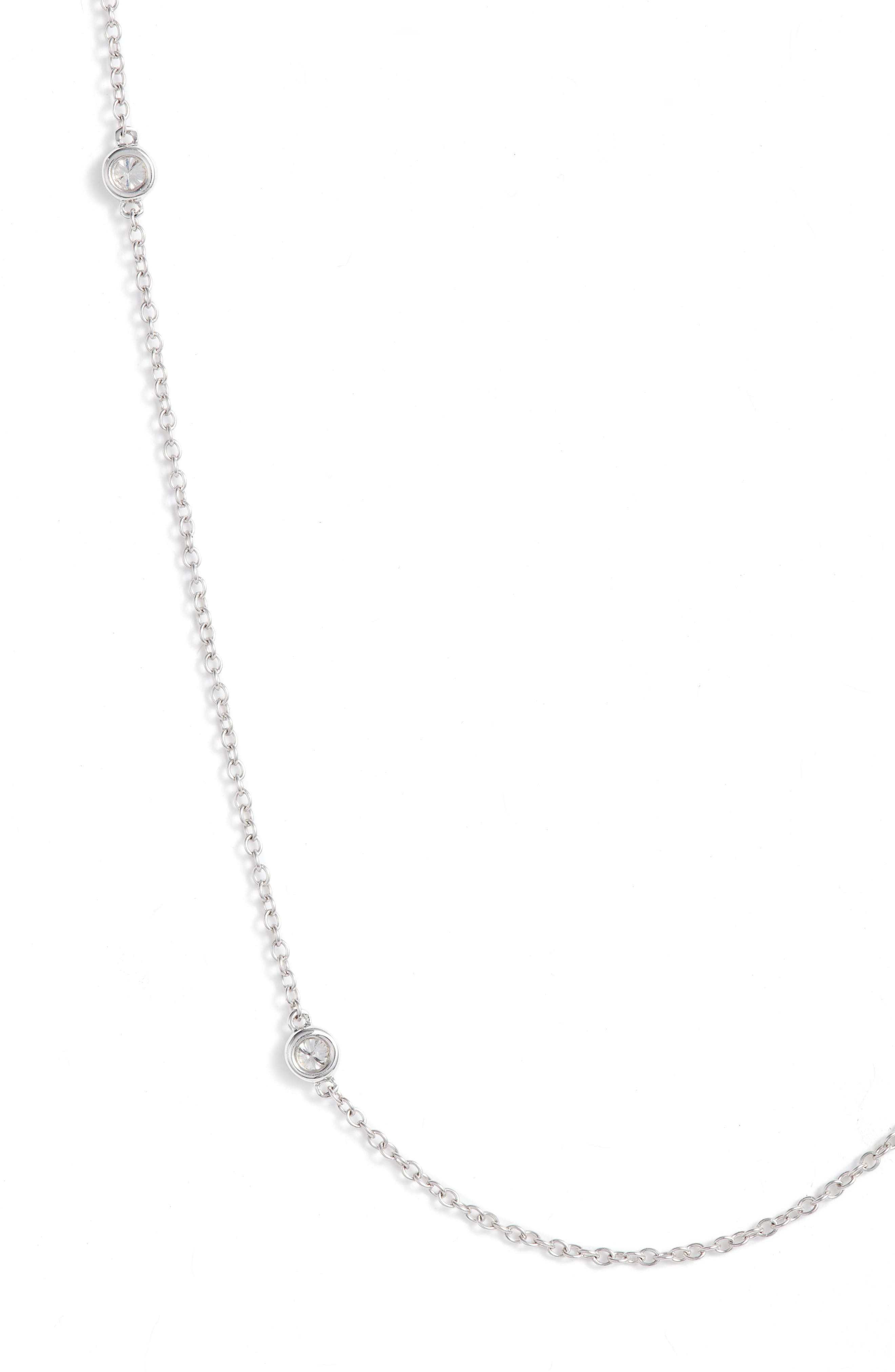 Diamonds by the Yard Necklace,                             Alternate thumbnail 2, color,                             WHITE GOLD