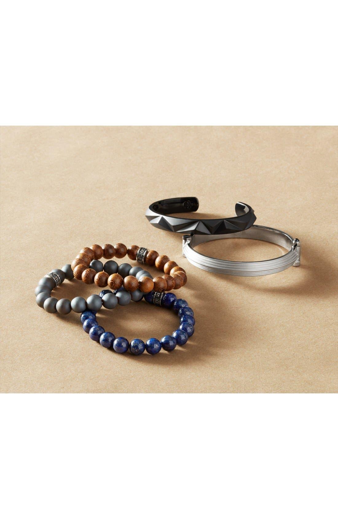 Polished Agate Bead Bracelet,                             Alternate thumbnail 6, color,