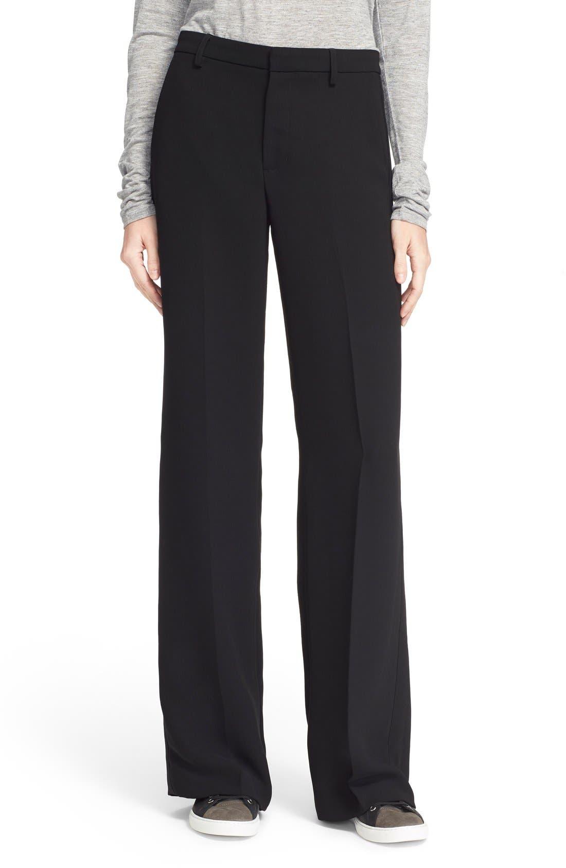VINCE Wide Leg Trousers, Main, color, 001