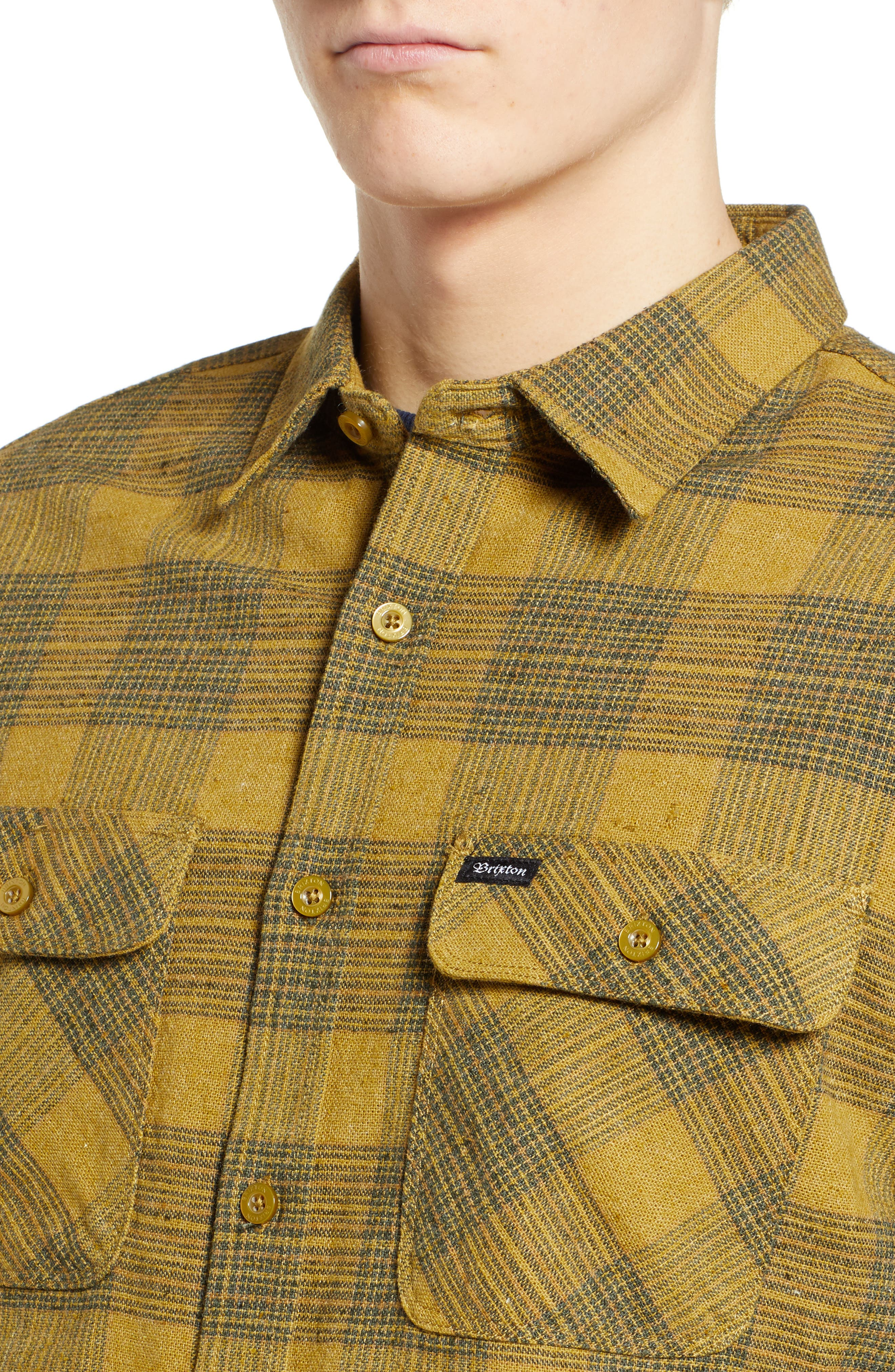 Bowery Flannel Shirt,                             Alternate thumbnail 2, color,                             AVOCADO