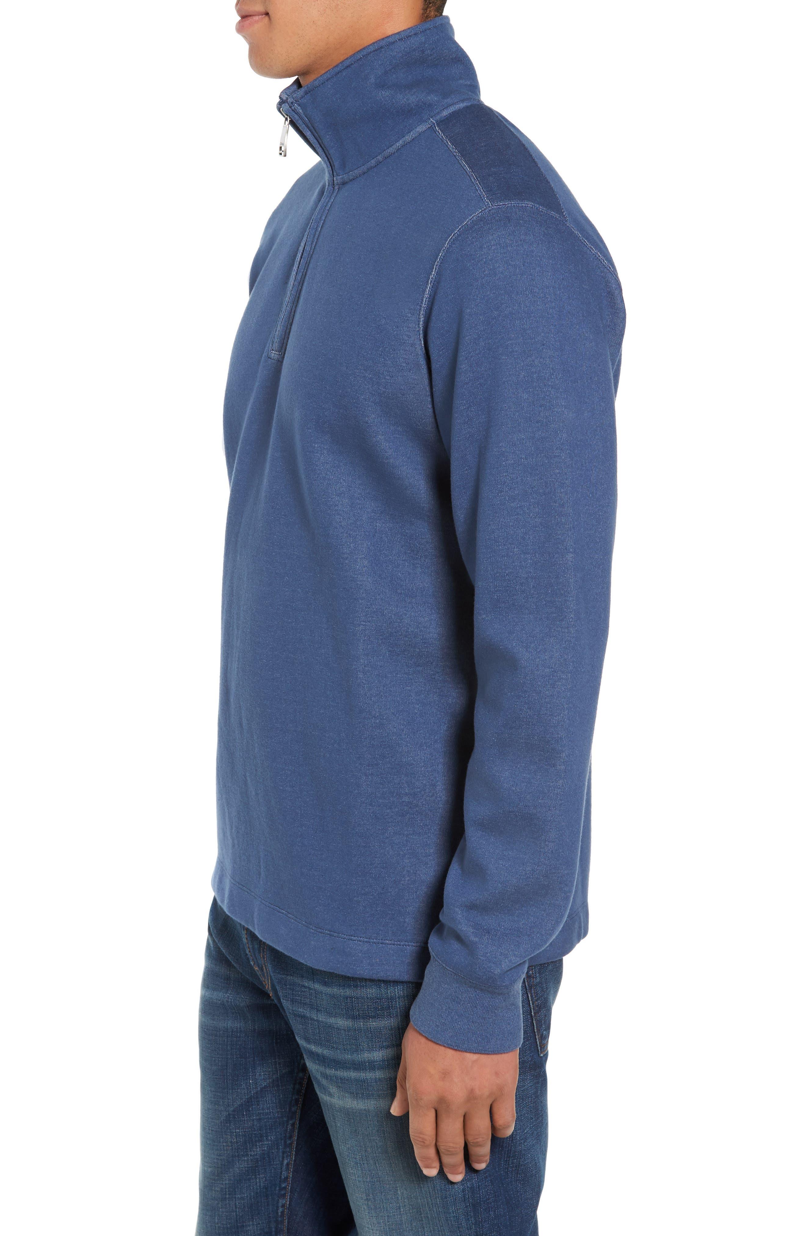 Upper Deck Half Zip Pullover,                             Alternate thumbnail 3, color,                             410