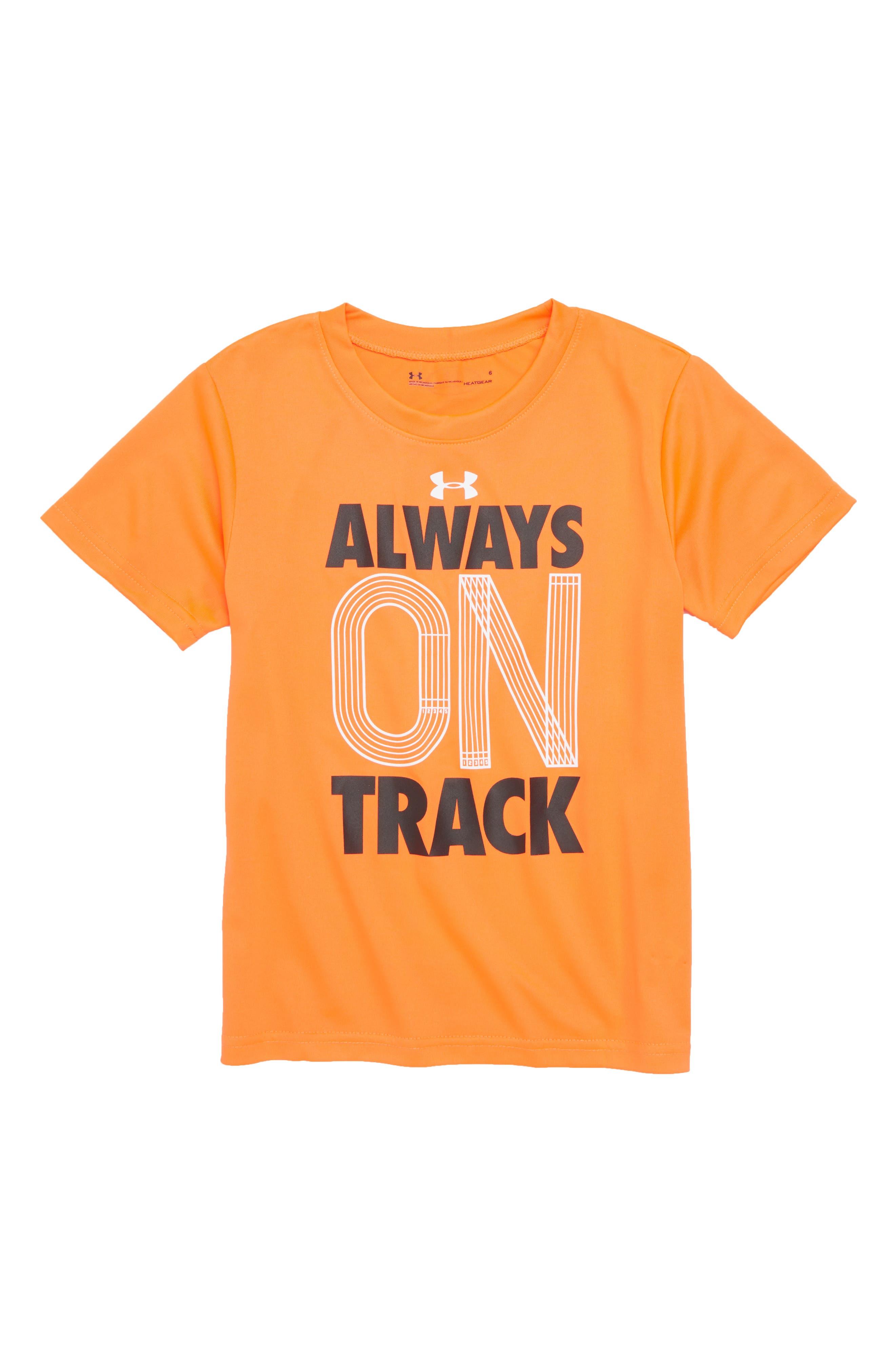 Always on Track HeatGear<sup>®</sup> Shirt,                             Main thumbnail 1, color,                             820