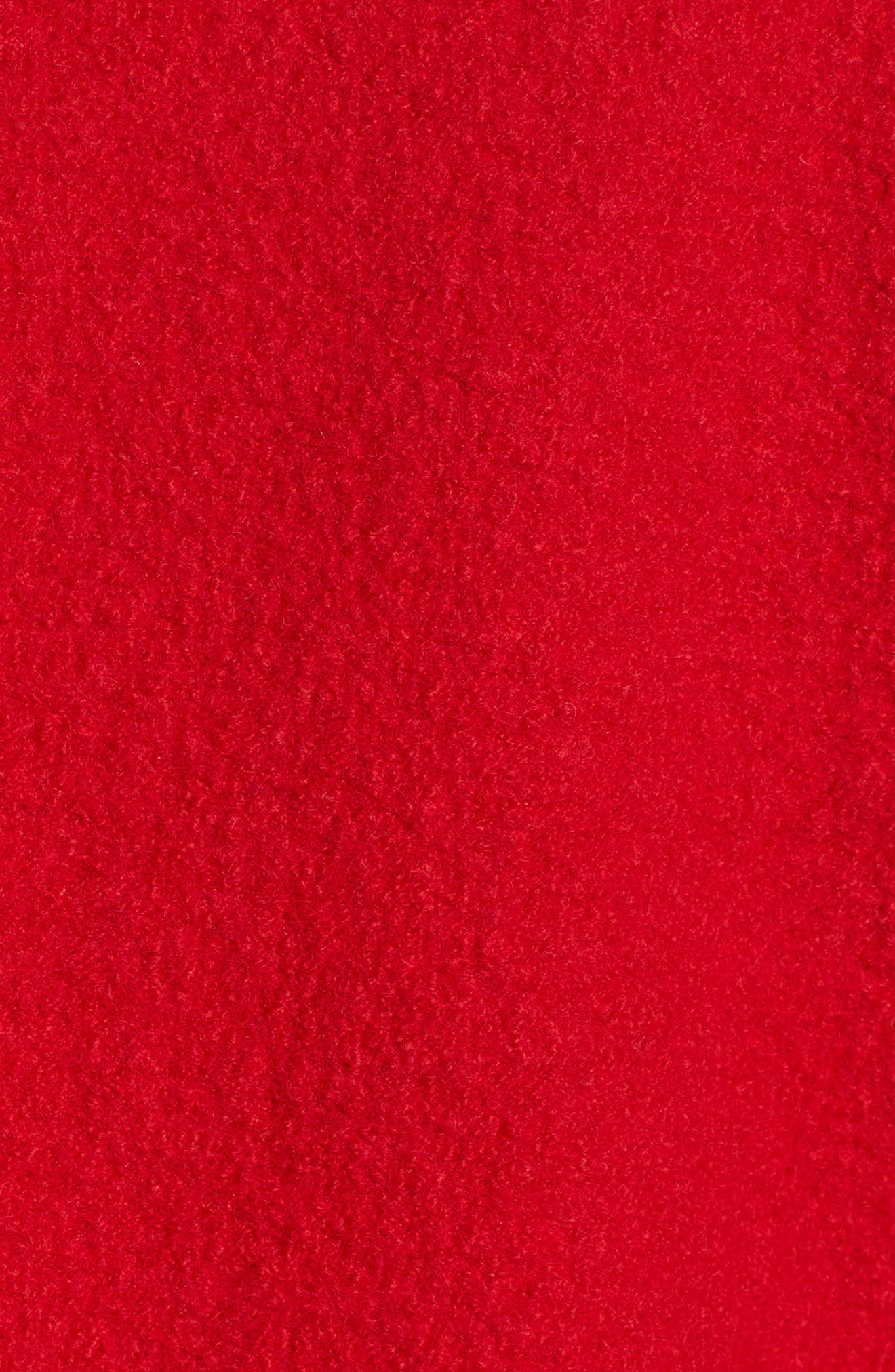 Olga Boiled Wool Topcoat,                             Alternate thumbnail 7, color,                             BRIGHT RED