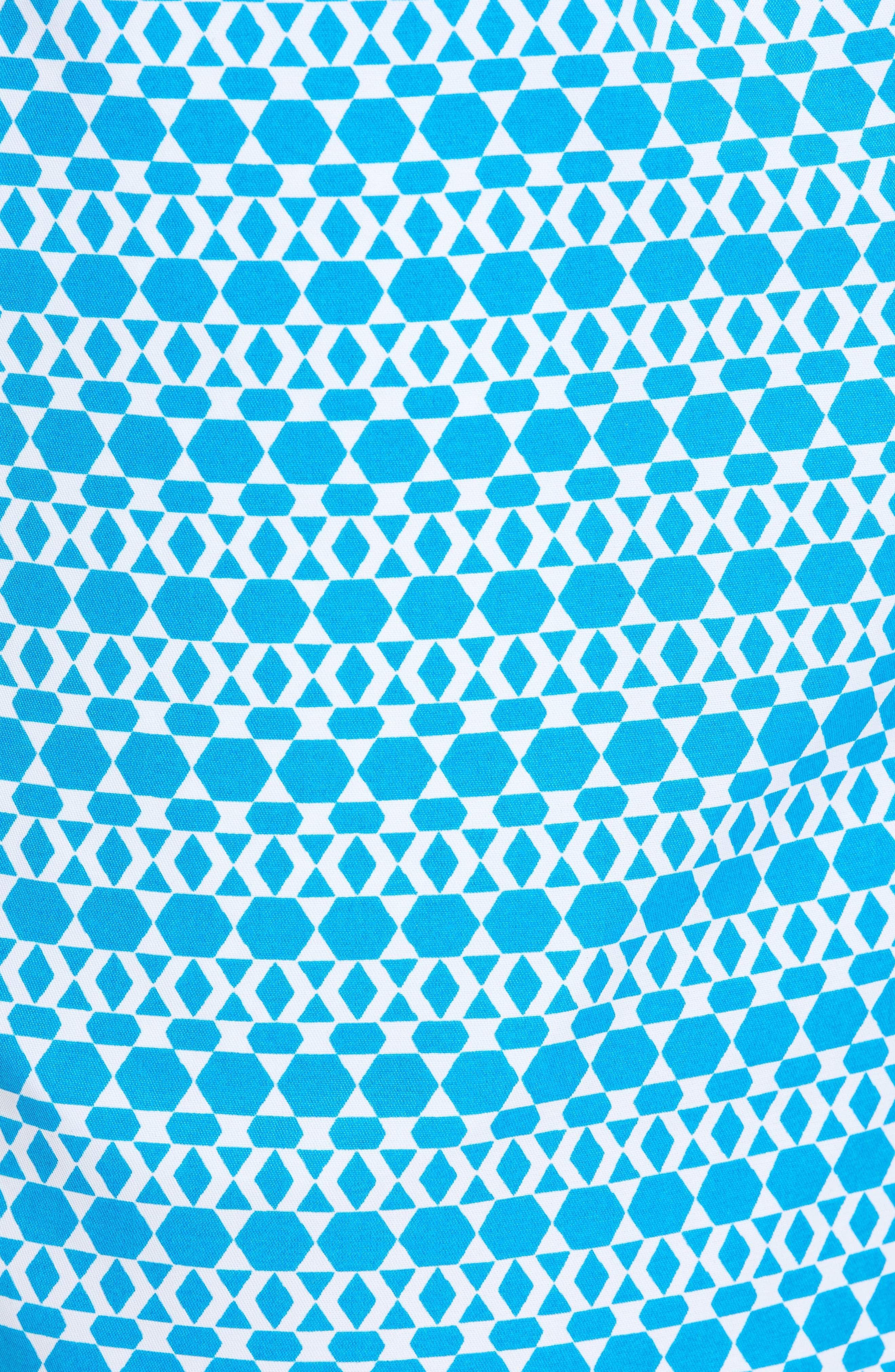 Mr. Swim Hexagon Stripe Swim Trunks,                             Alternate thumbnail 5, color,                             NAVY