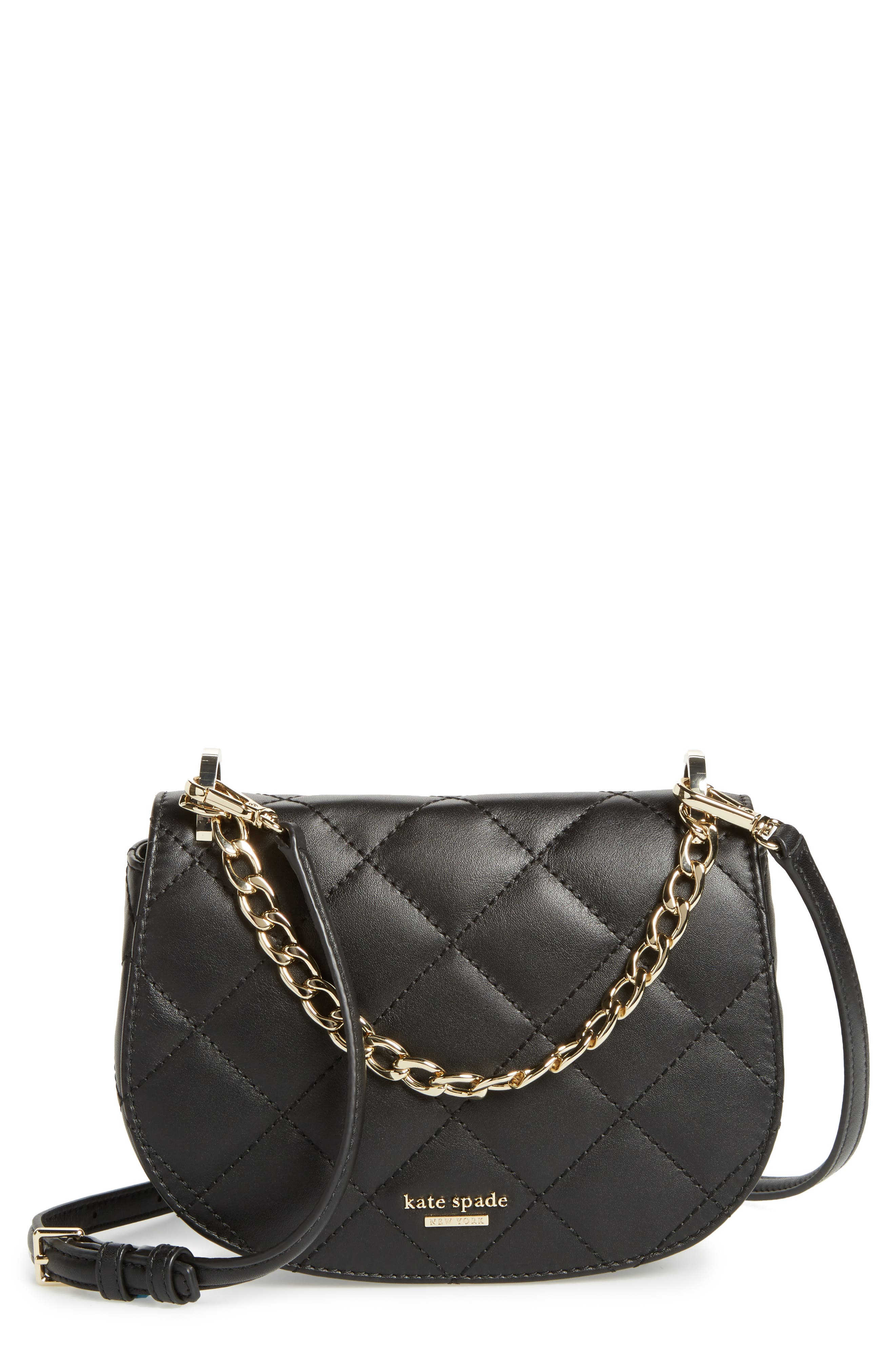 emerson place - rita quilted leather crossbody bag,                             Main thumbnail 1, color,                             001