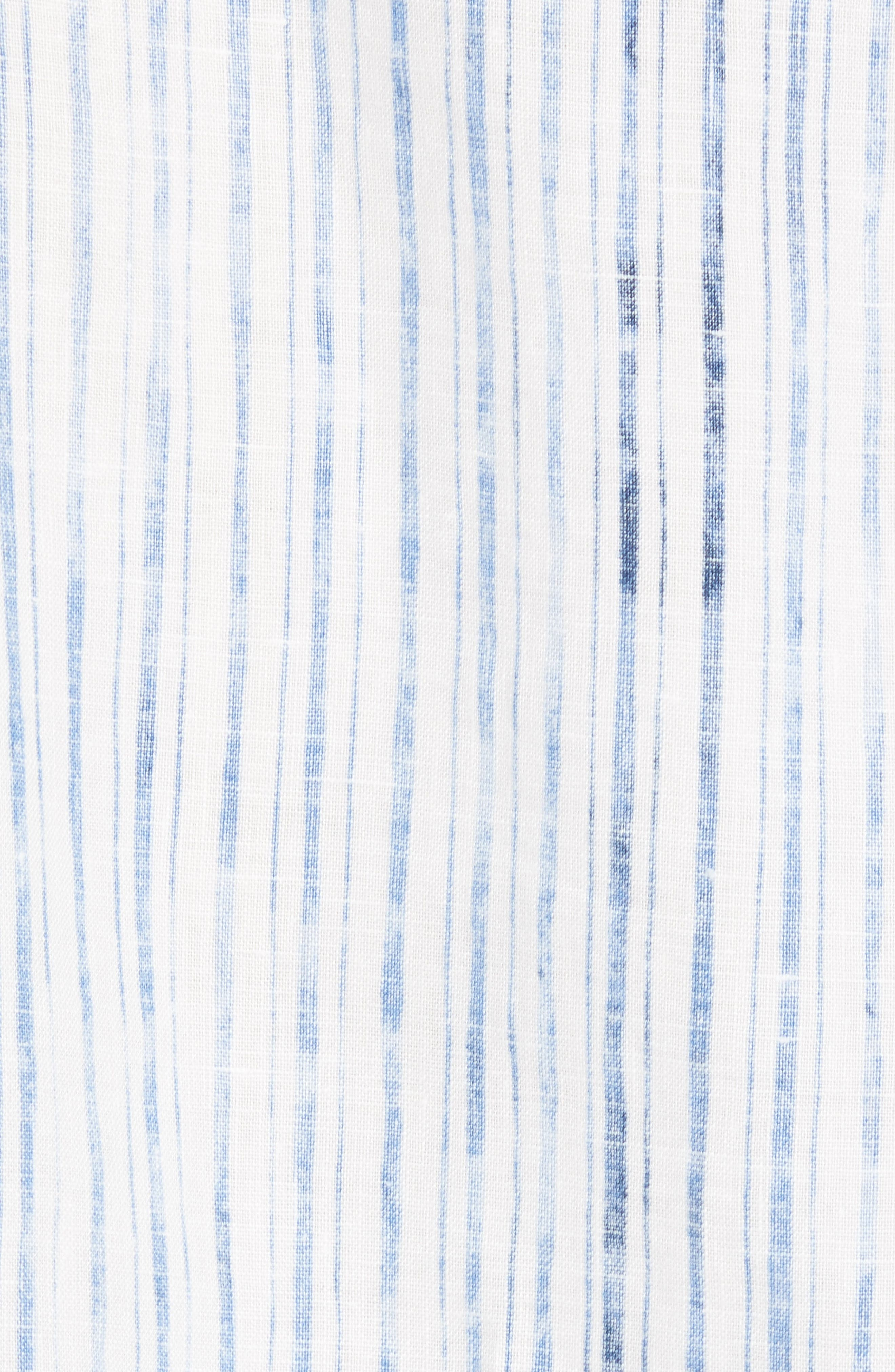 Del Soul Stripe Linen Sport Shirt,                             Alternate thumbnail 5, color,                             BLUE SPARK