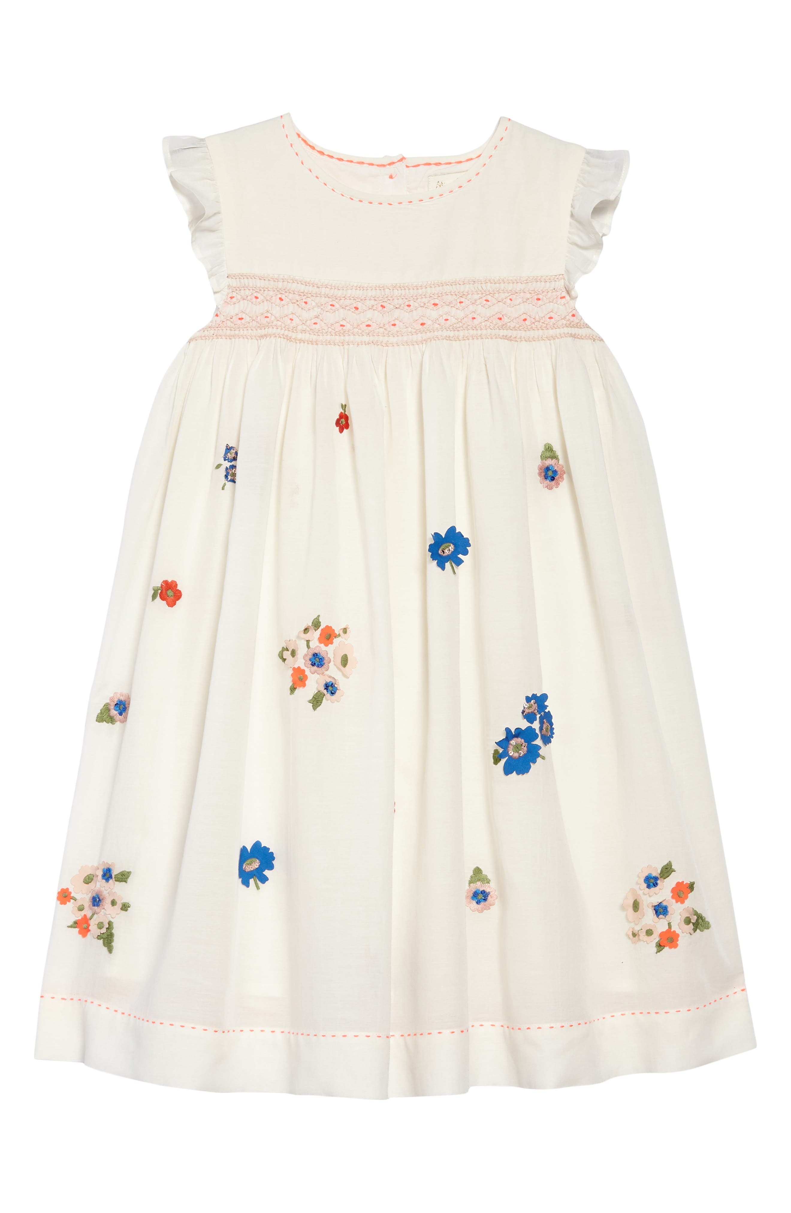 Embroidered Smock Dress,                         Main,                         color, 902