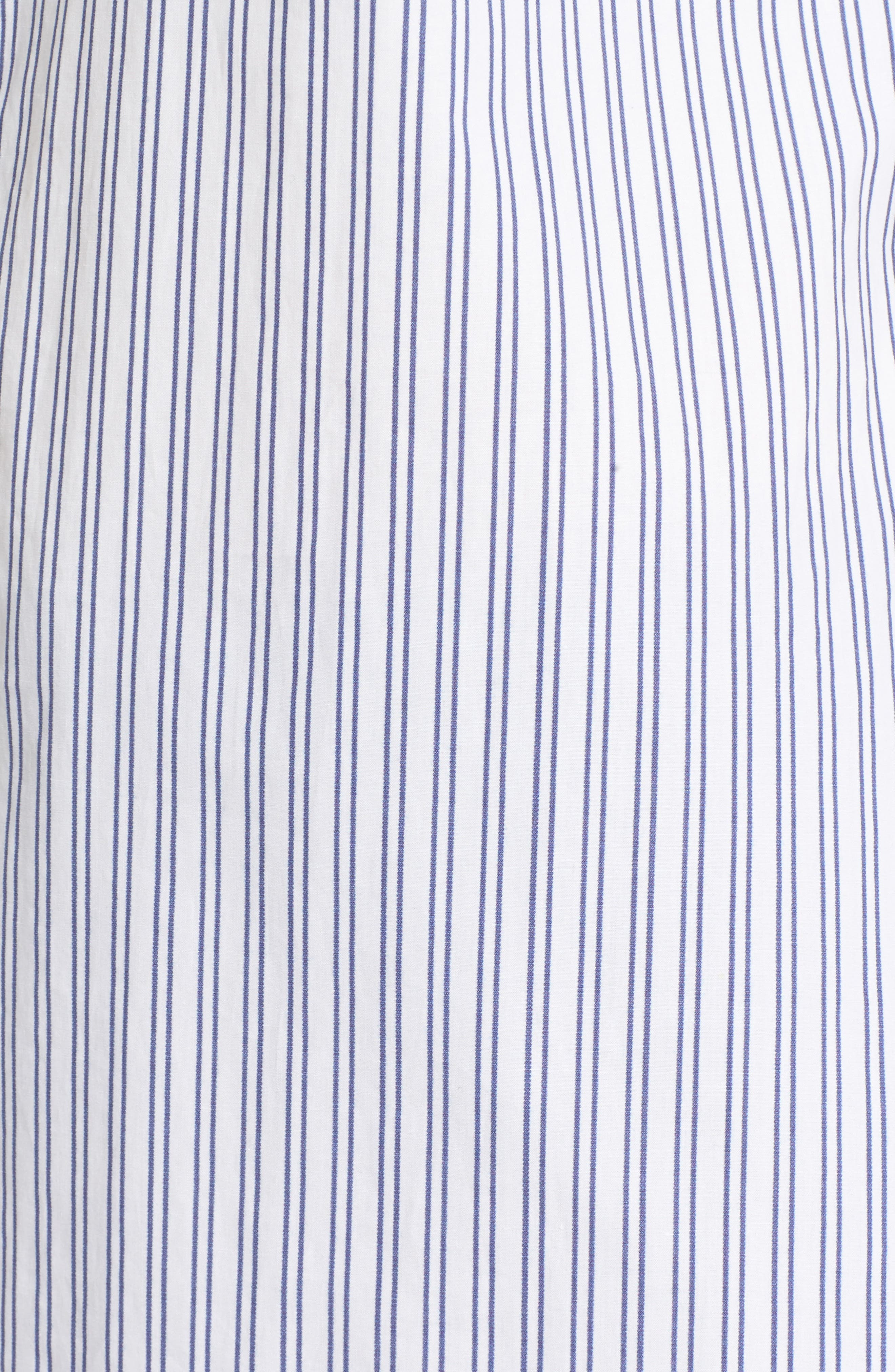Exaggerated Cuff Stripe Shirt,                             Alternate thumbnail 5, color,                             450