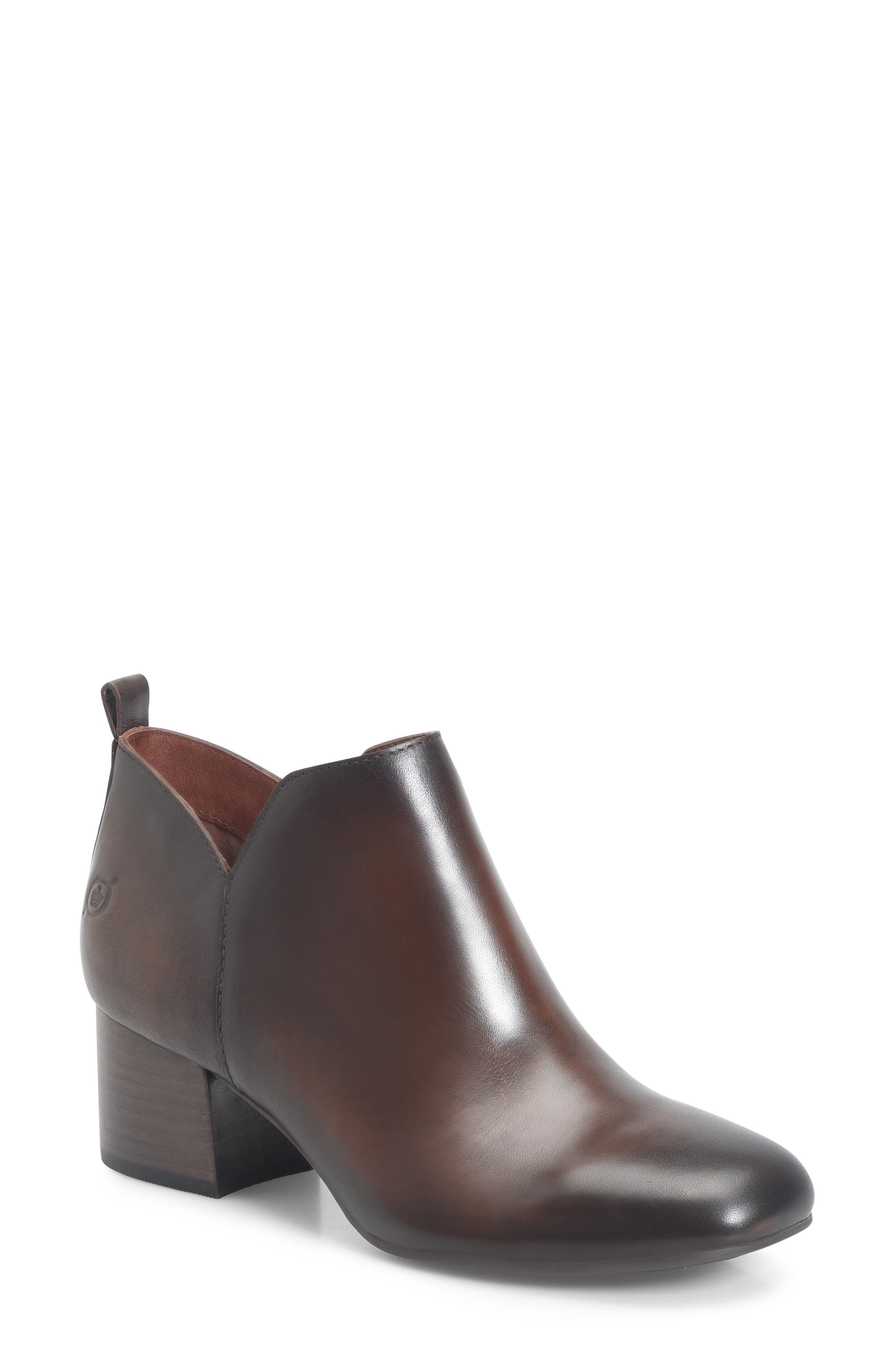Aneto Bootie,                             Main thumbnail 1, color,                             BROWN/ BROWN LEATHER
