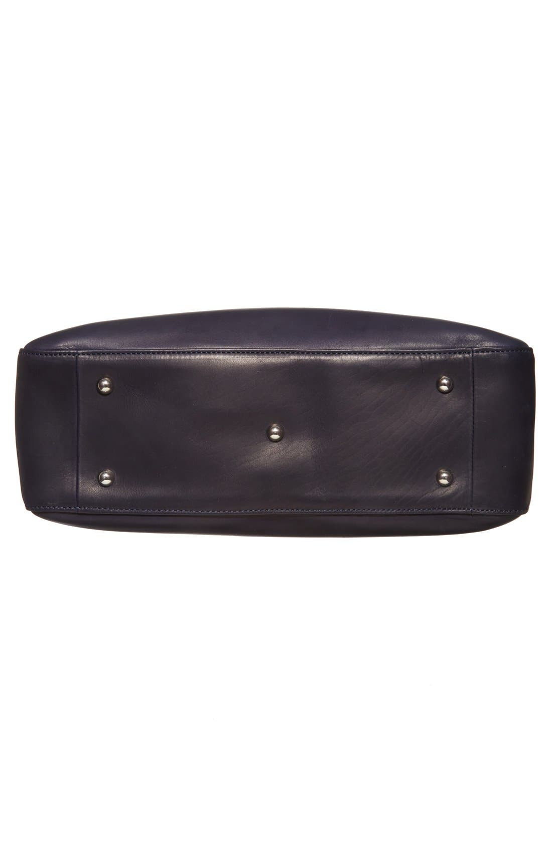 LONGCHAMP,                             'Medium Roseau Heritage' Leather Tote,                             Alternate thumbnail 6, color,                             400
