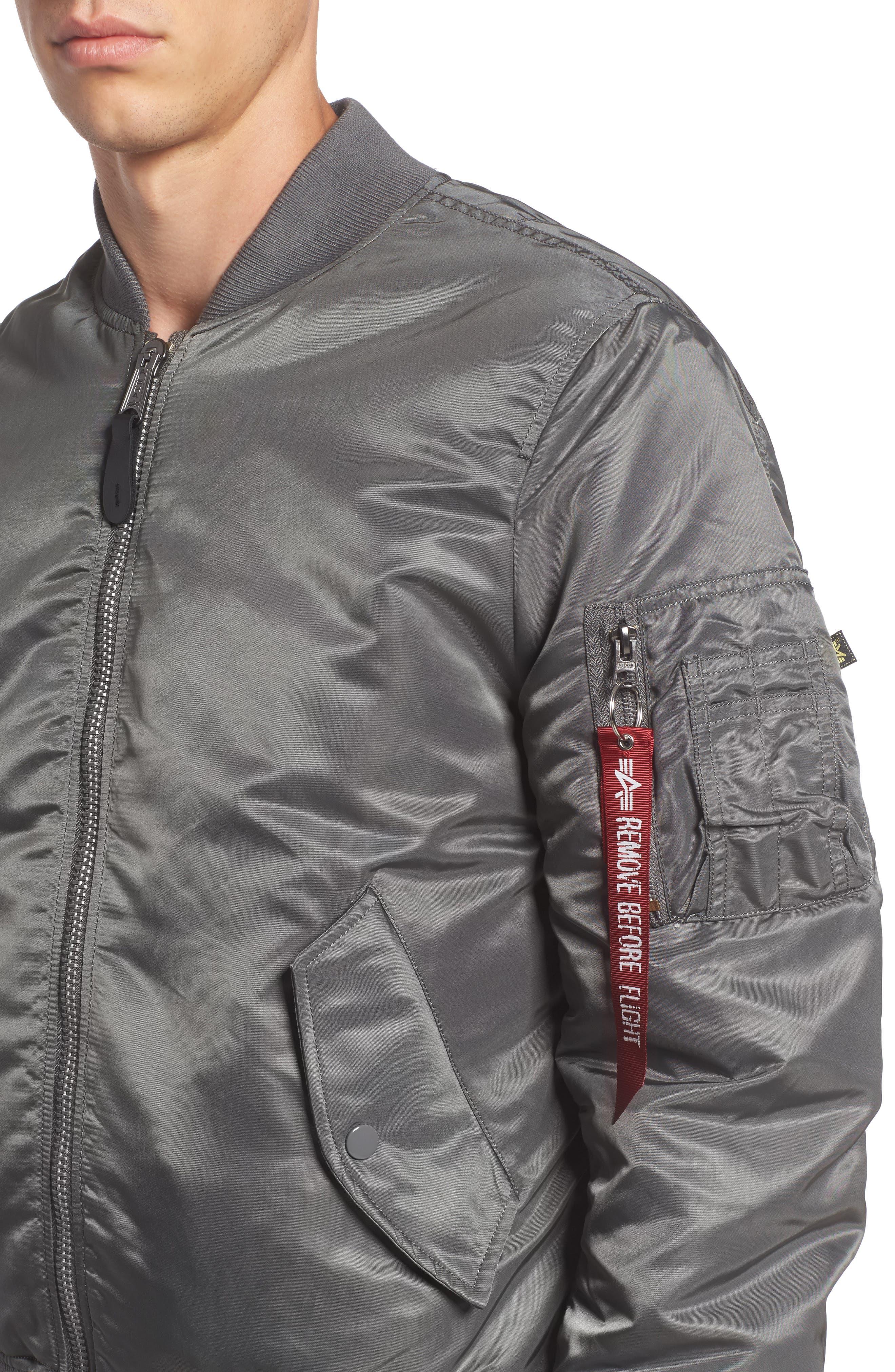 'MA-1' Slim Fit Bomber Jacket,                             Alternate thumbnail 39, color,