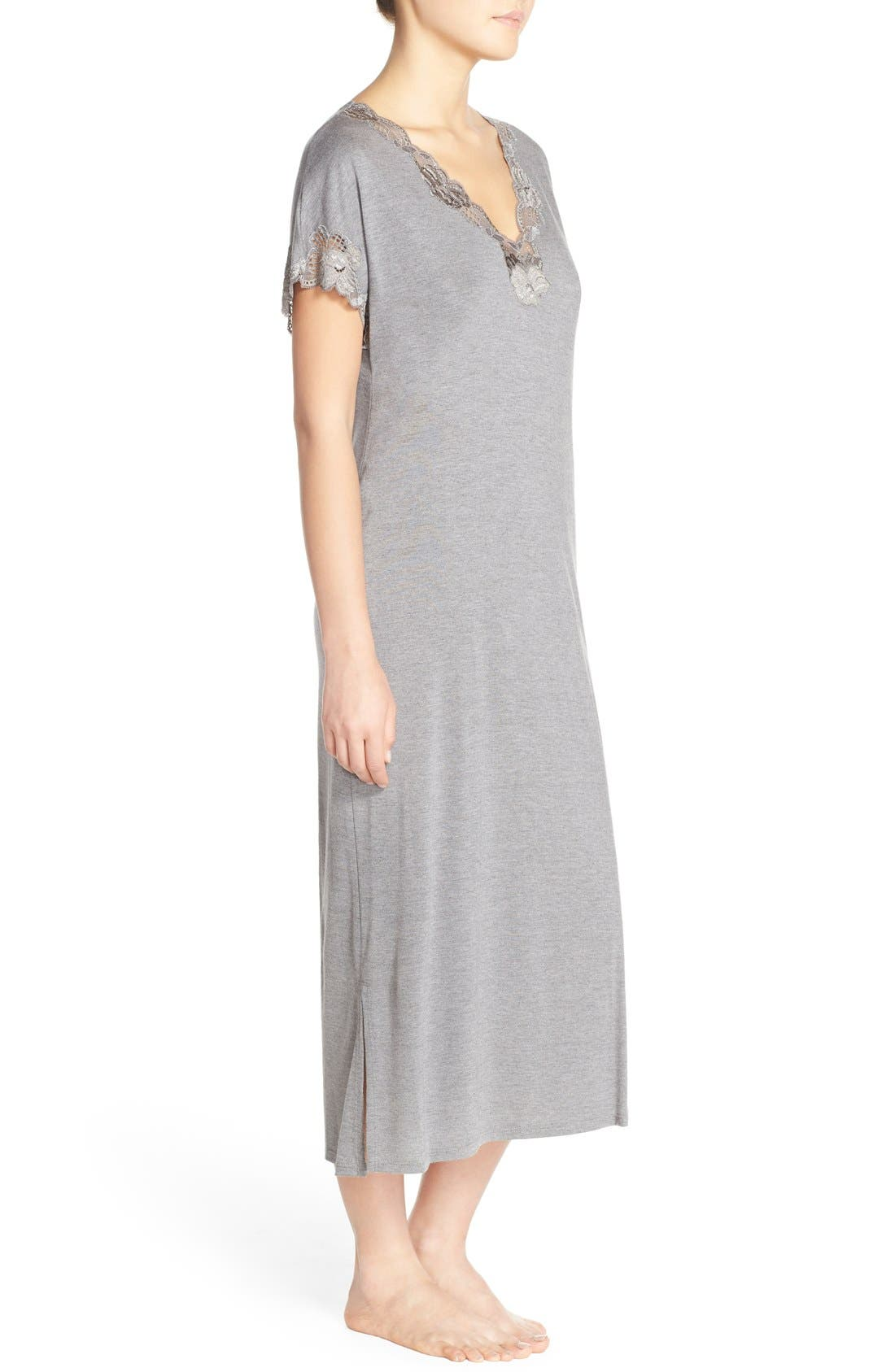'Zen' Short Sleeve Nightgown,                             Alternate thumbnail 17, color,