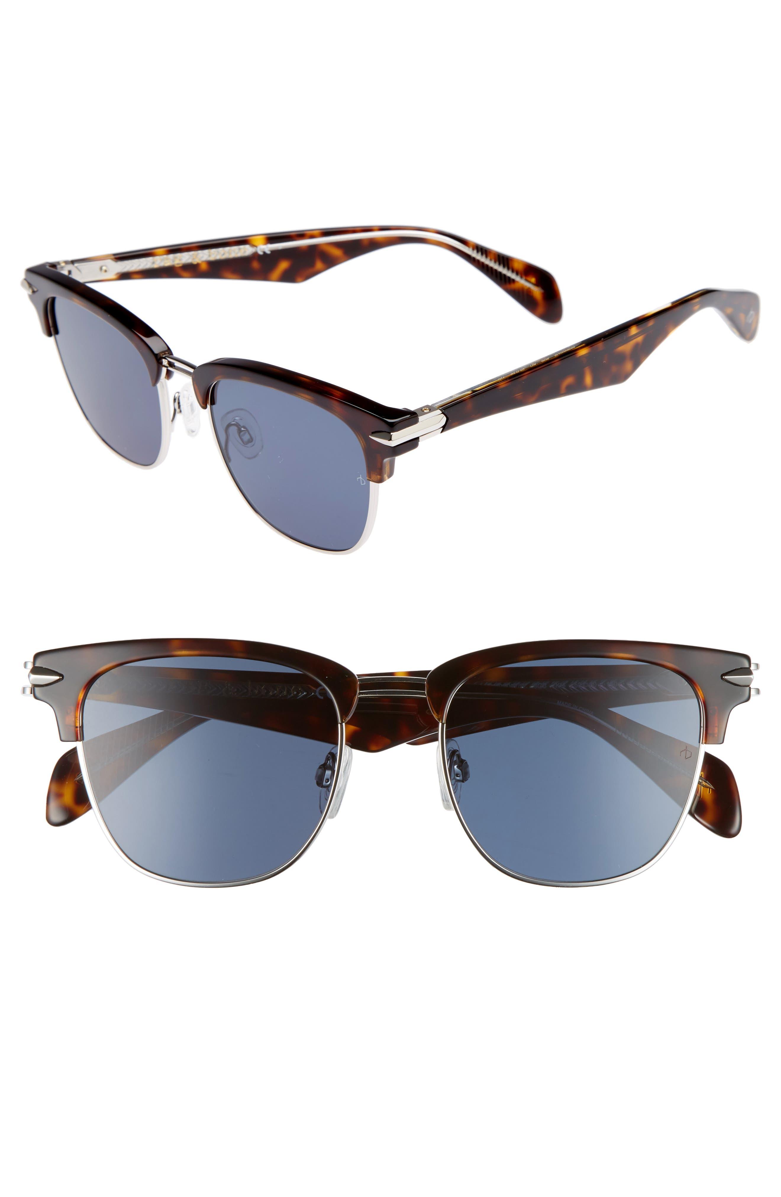 52mm Sunglasses,                         Main,                         color, HAVANA PALLADIUM