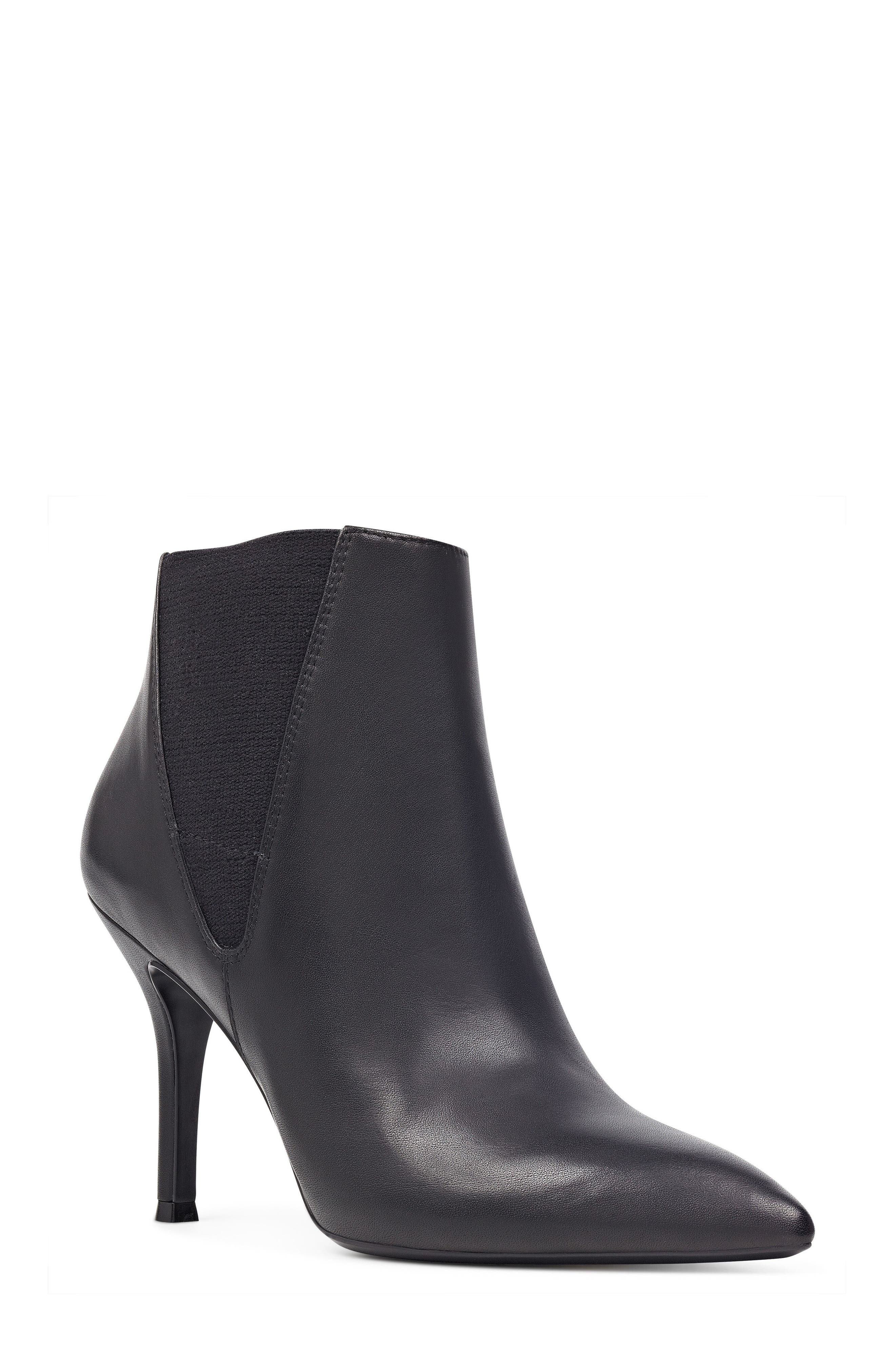 NINE WEST,                             Pointy Toe Bootie,                             Main thumbnail 1, color,                             001