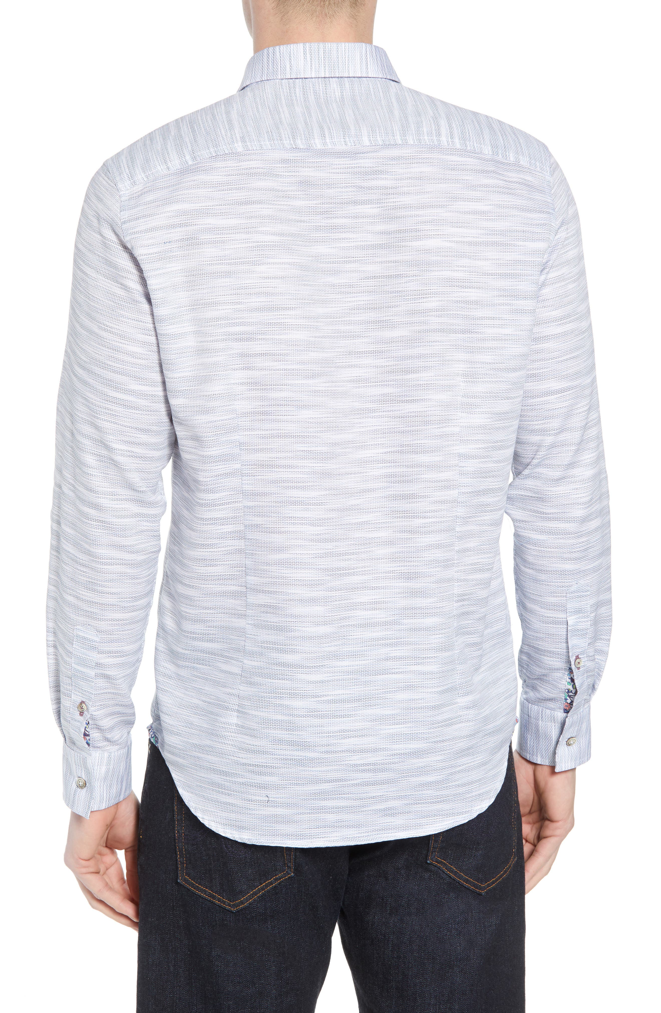 Tully Tailored Fit Sport Shirt,                             Alternate thumbnail 2, color,                             WHITE
