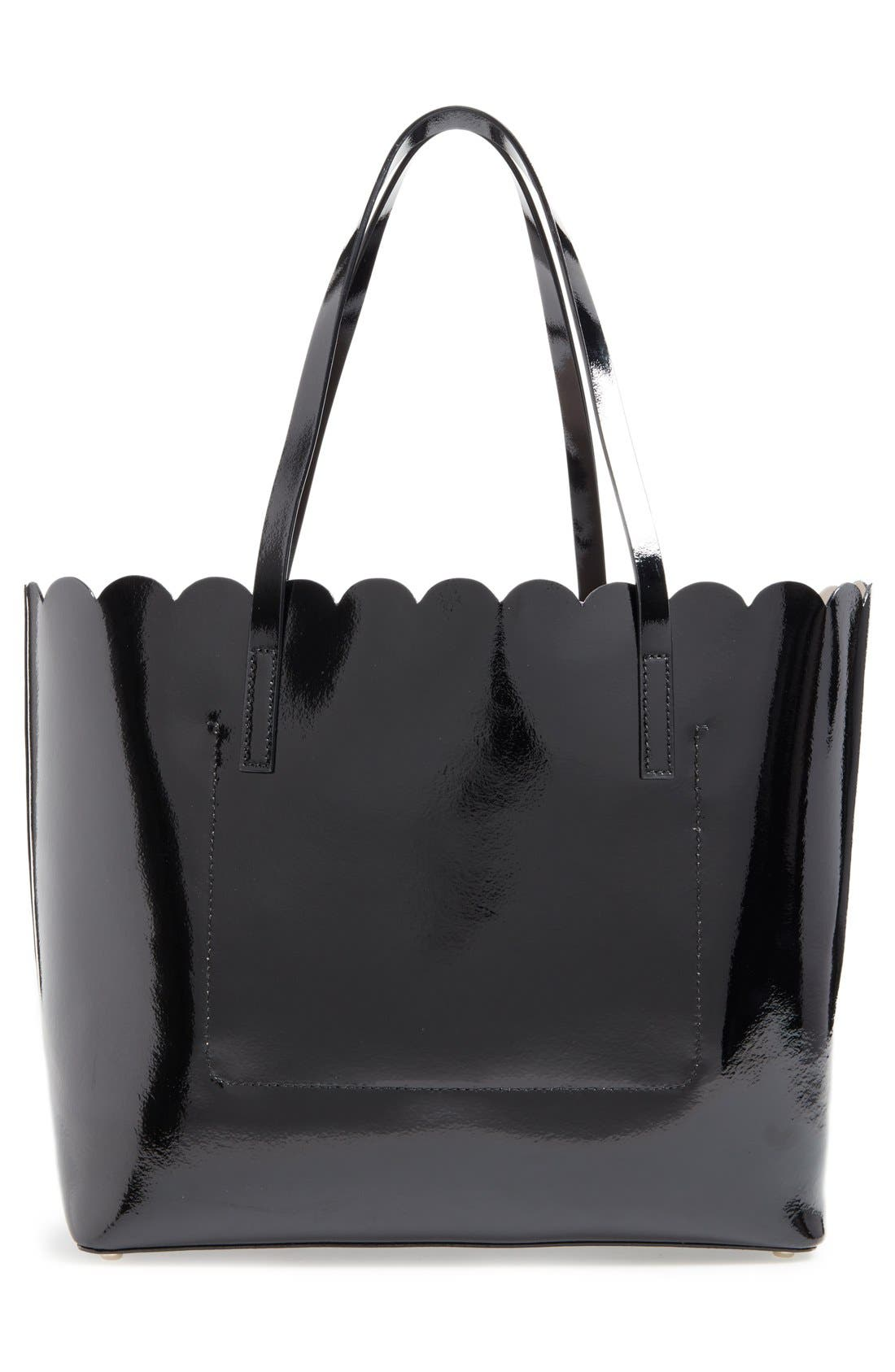 'lily avenue patent - carrigan' leather tote,                             Alternate thumbnail 4, color,                             005