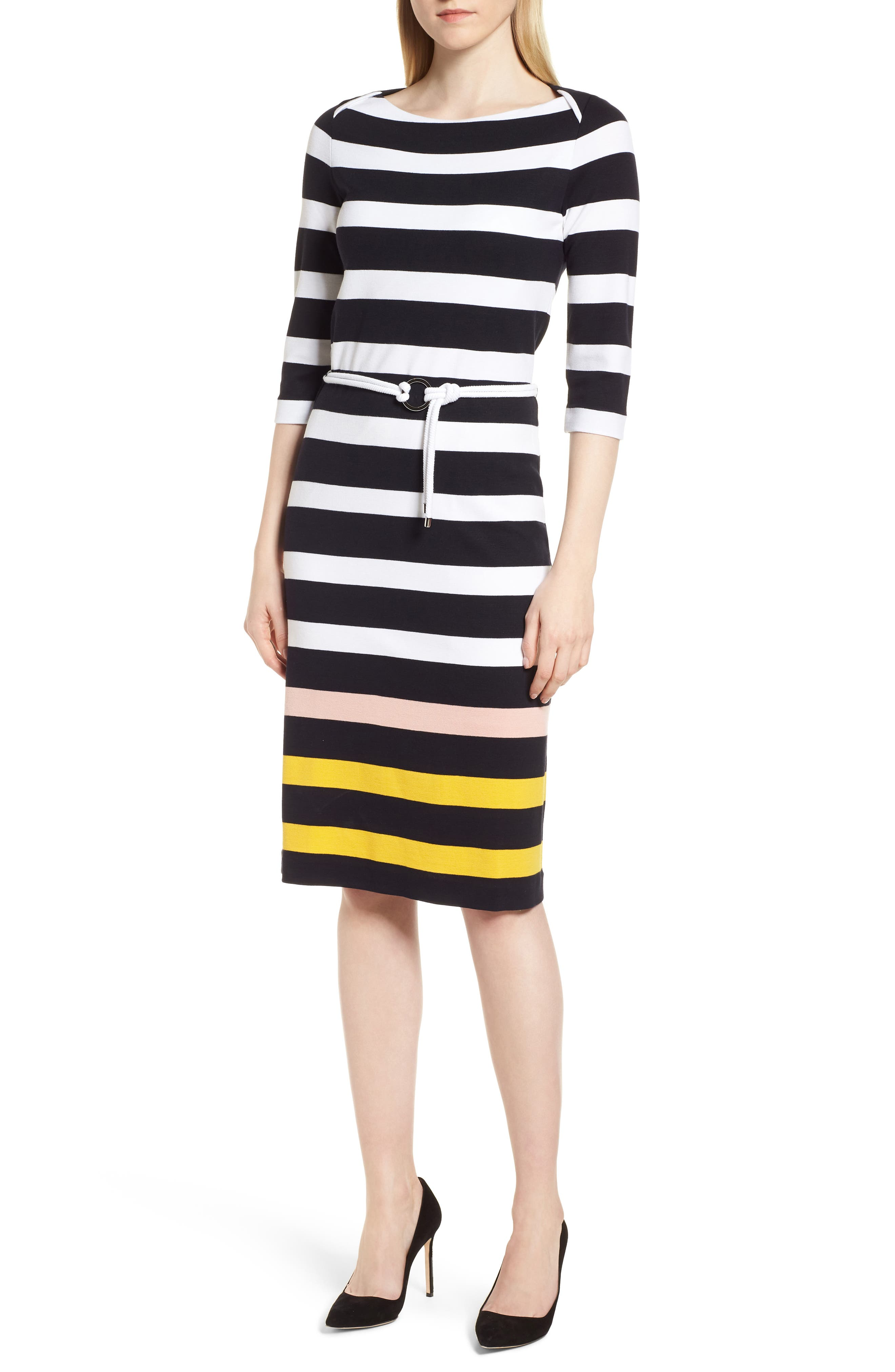 Elsara Stripe Sheath Dress,                             Main thumbnail 1, color,                             461