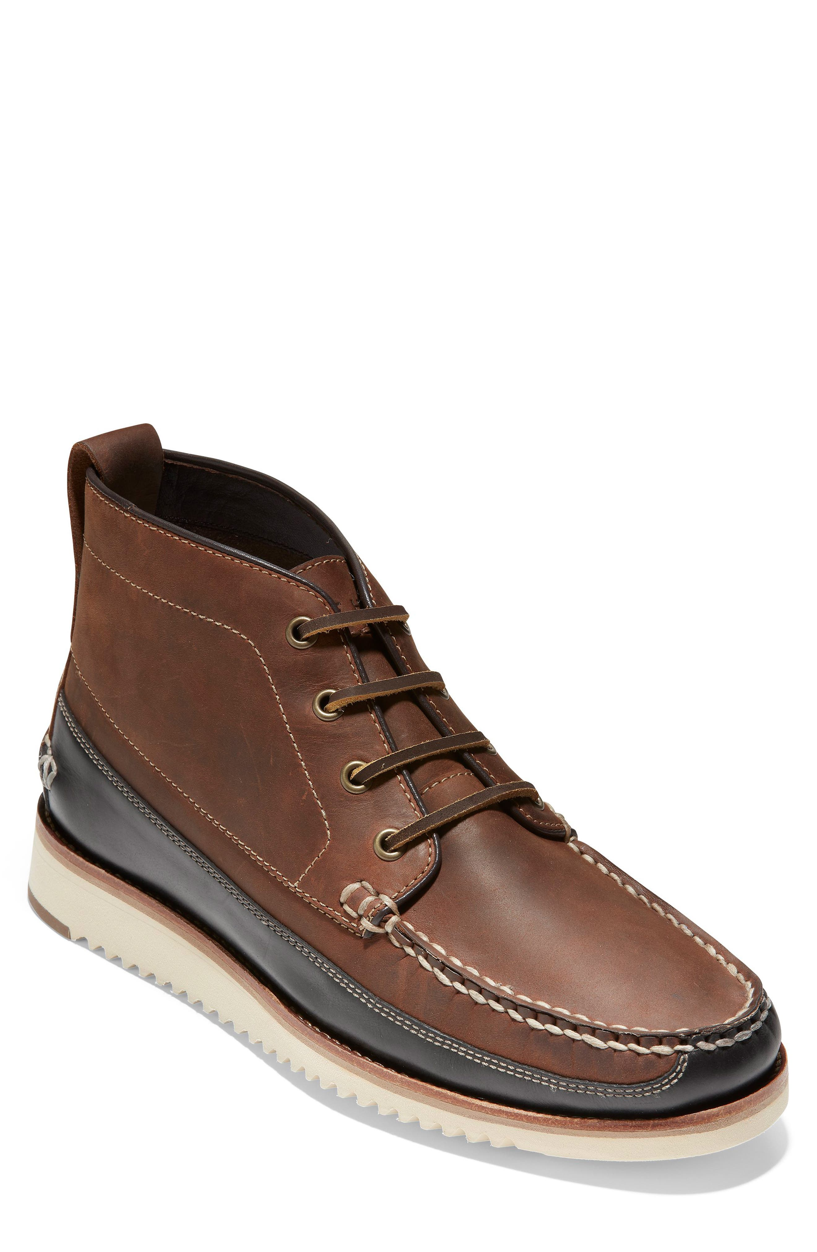 Cole Haan Pinch Moc Toe Waterproof Boot- Brown