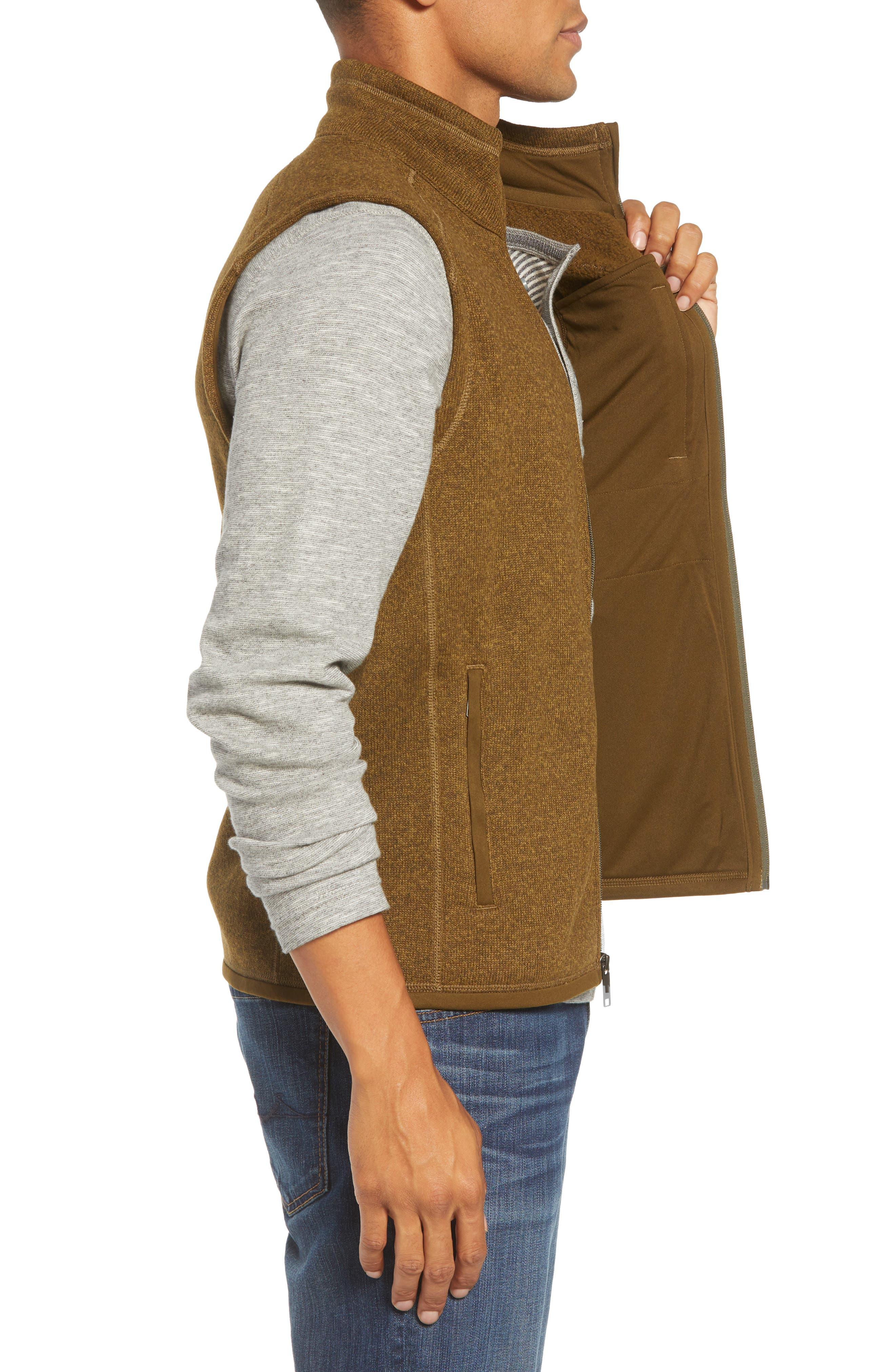 'Better Sweater' Zip Front Vest,                             Alternate thumbnail 3, color,                             SEDIMENT