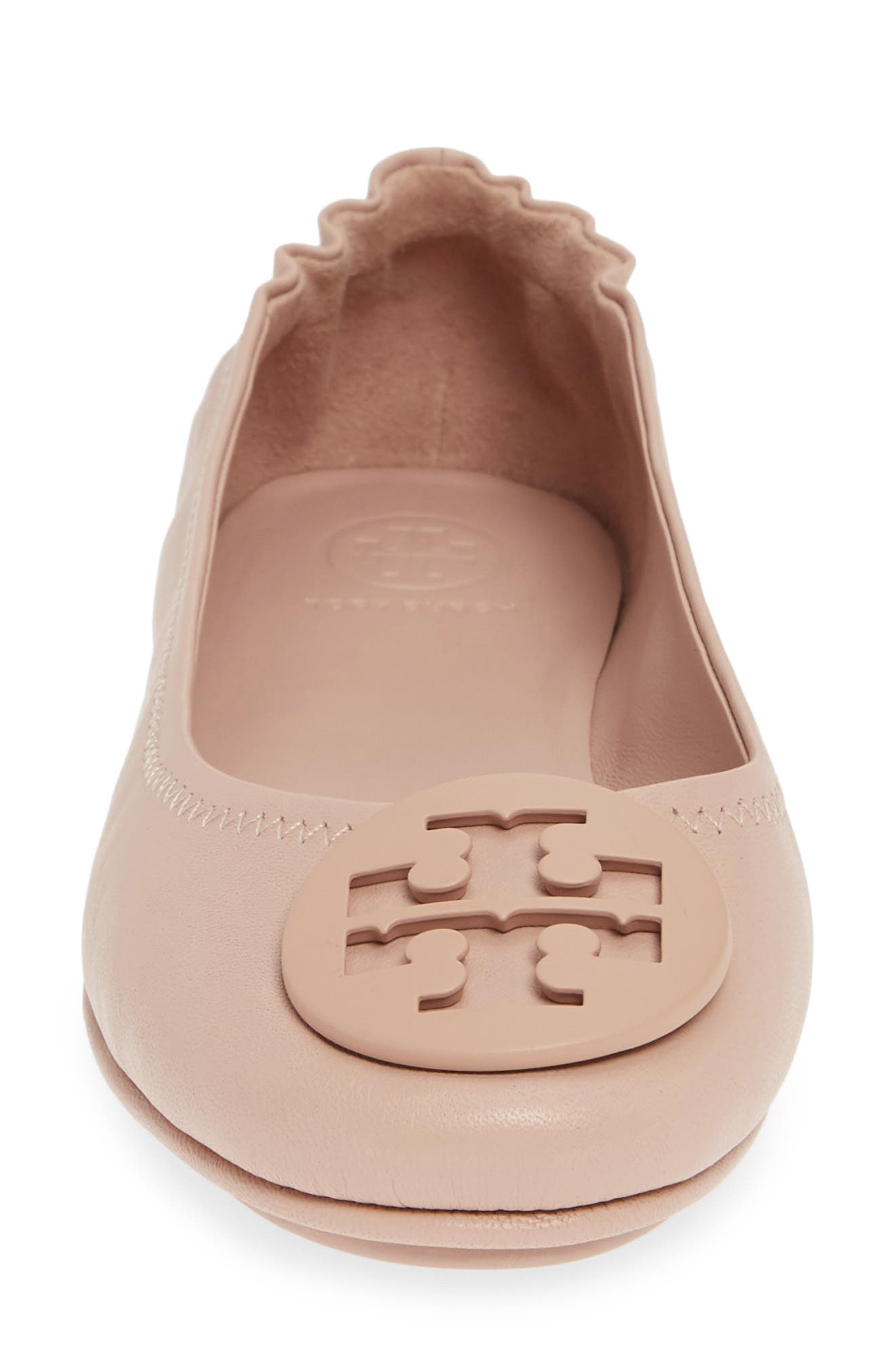 TORY BURCH,                             'Minnie' Travel Ballet Flat,                             Alternate thumbnail 4, color,                             GOAN SAND/ SAND