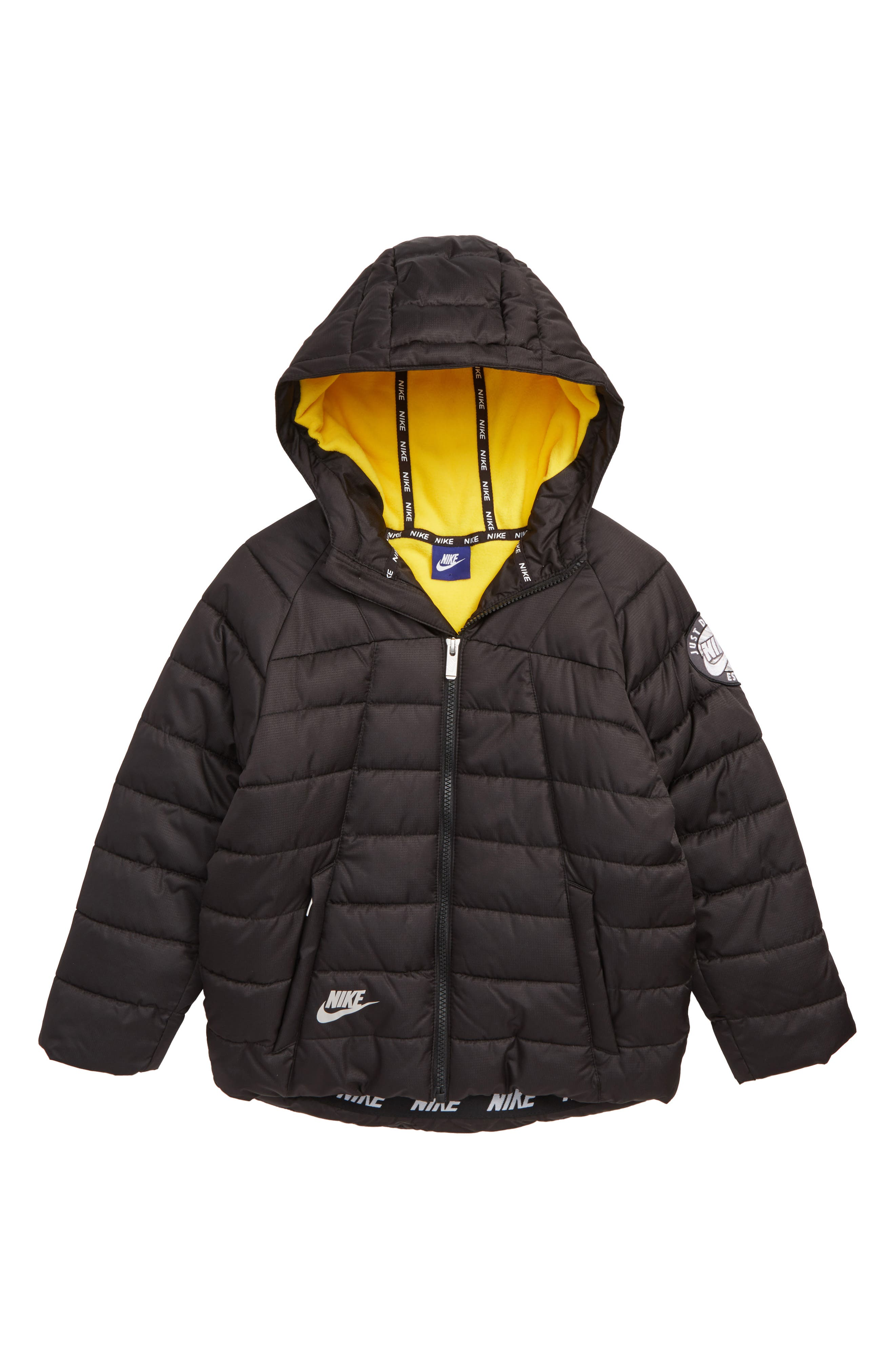 Quilted Jacket,                             Main thumbnail 1, color,                             AMARILLO
