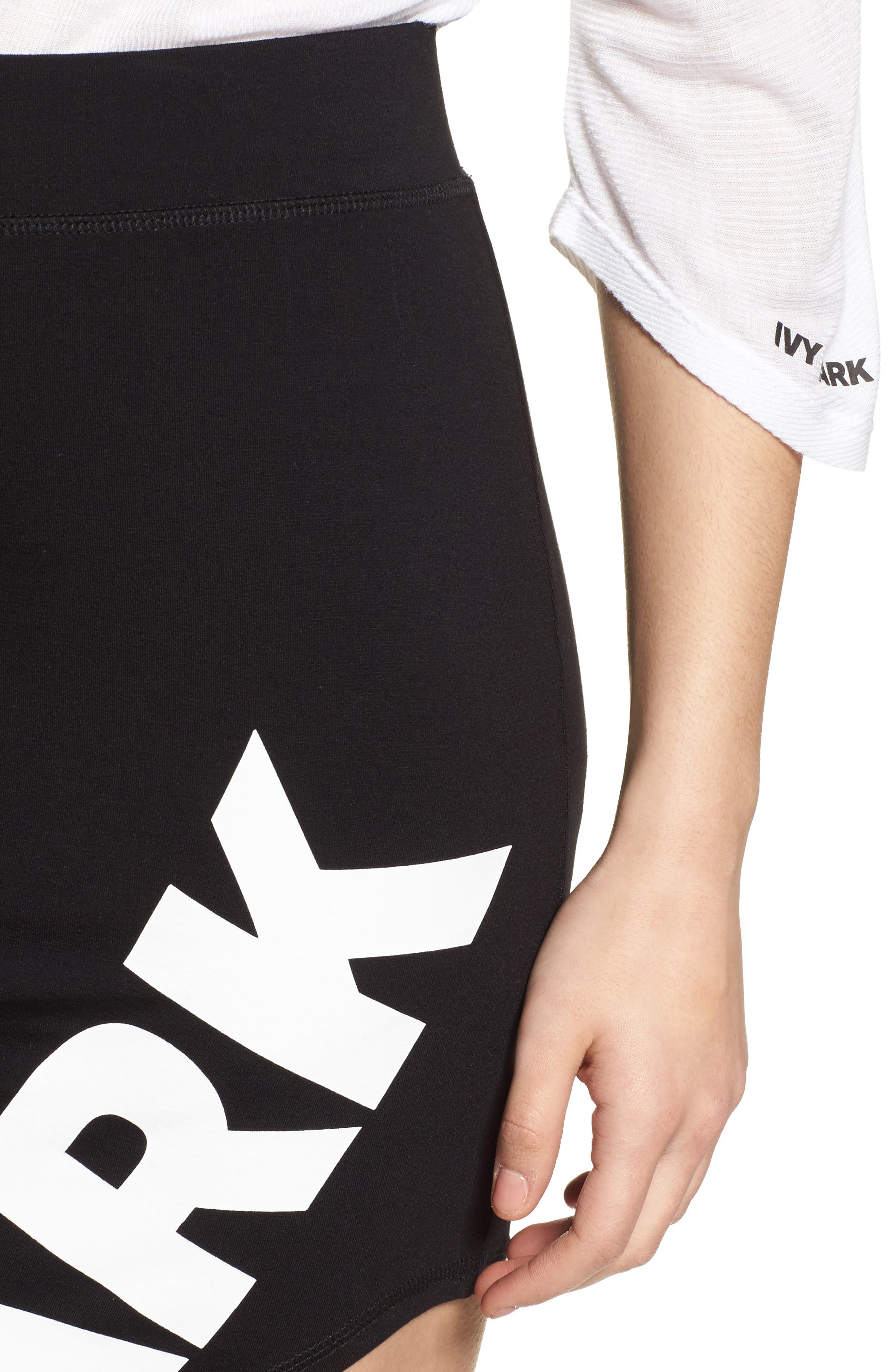 Logo Cutaway Side Pencil Skirt,                             Alternate thumbnail 4, color,