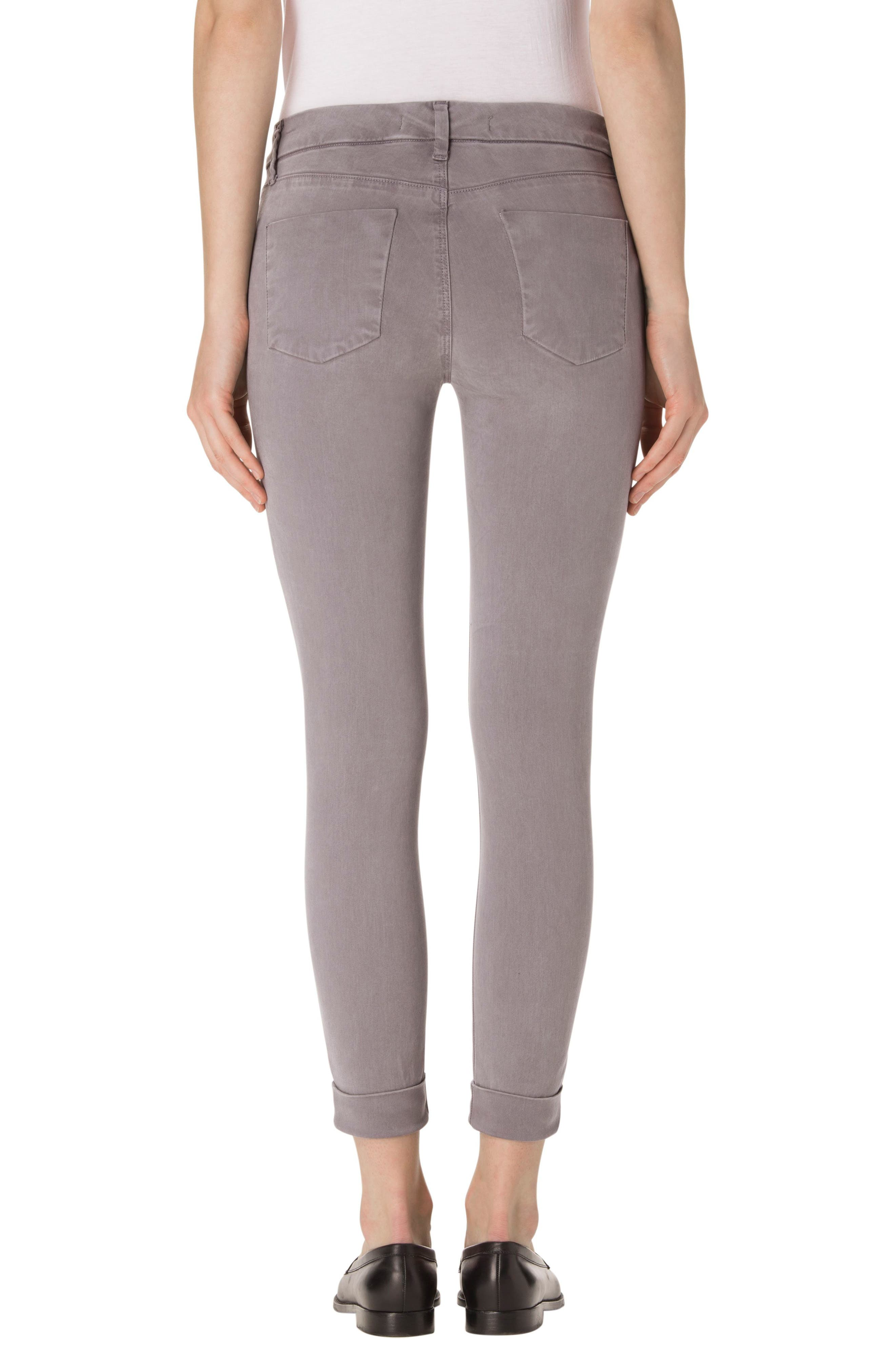 'Anja' Cuffed Crop Skinny Jeans,                             Alternate thumbnail 2, color,                             021