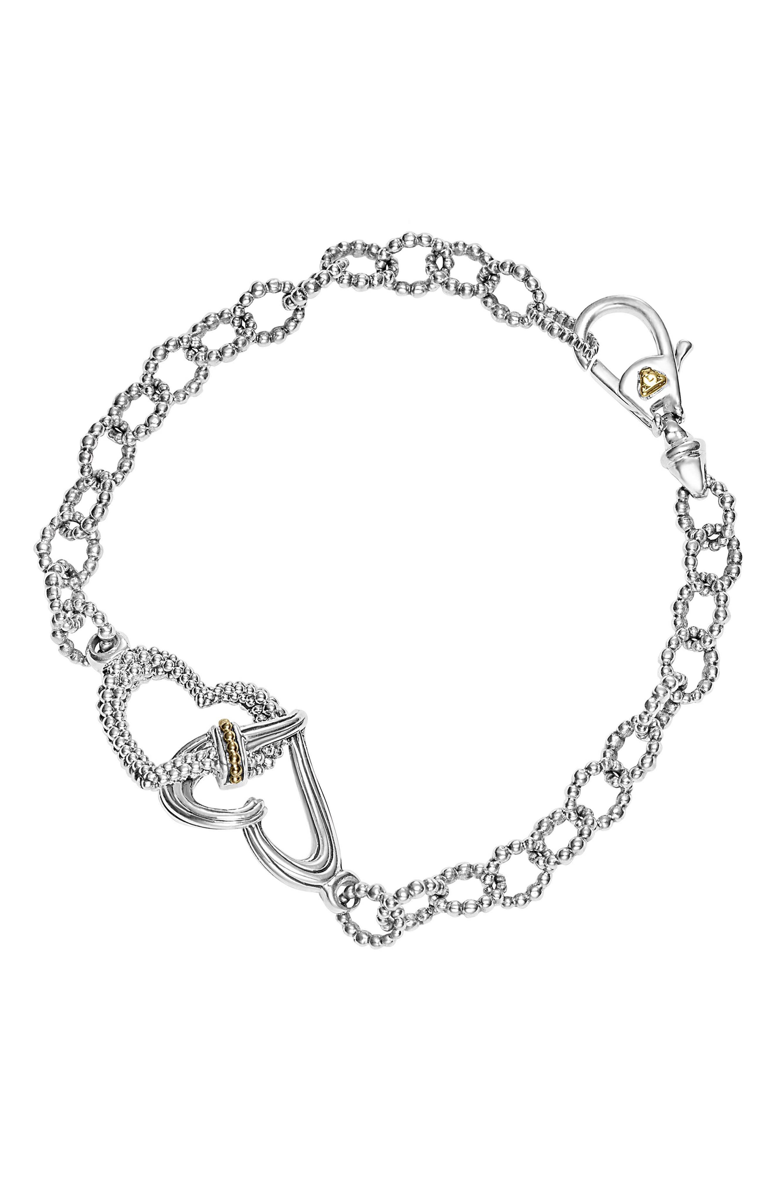 Beloved Link Bracelet,                         Main,                         color, STERLING SILVER
