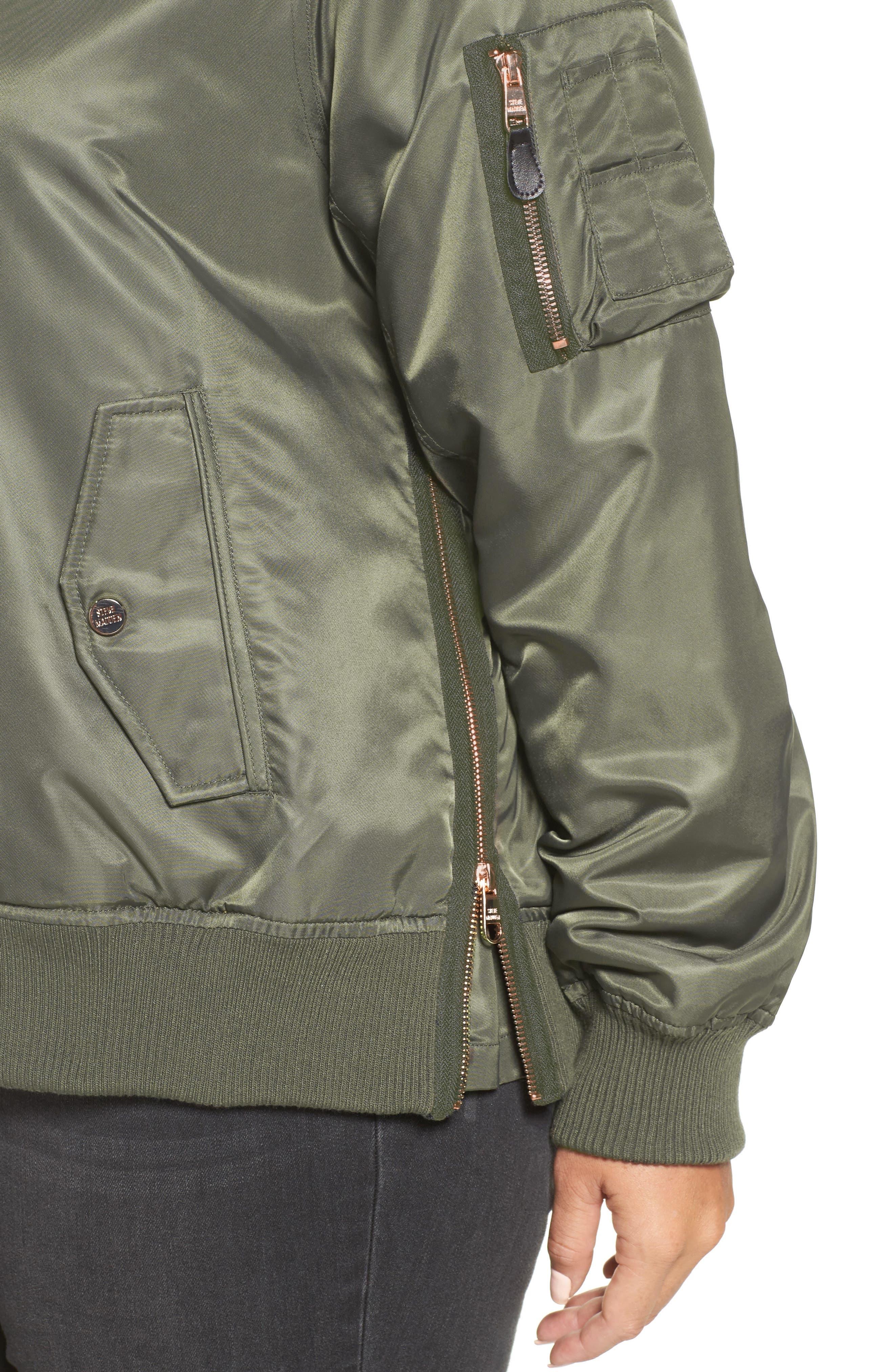 Flight Side Zip Bomber Jacket,                             Alternate thumbnail 14, color,
