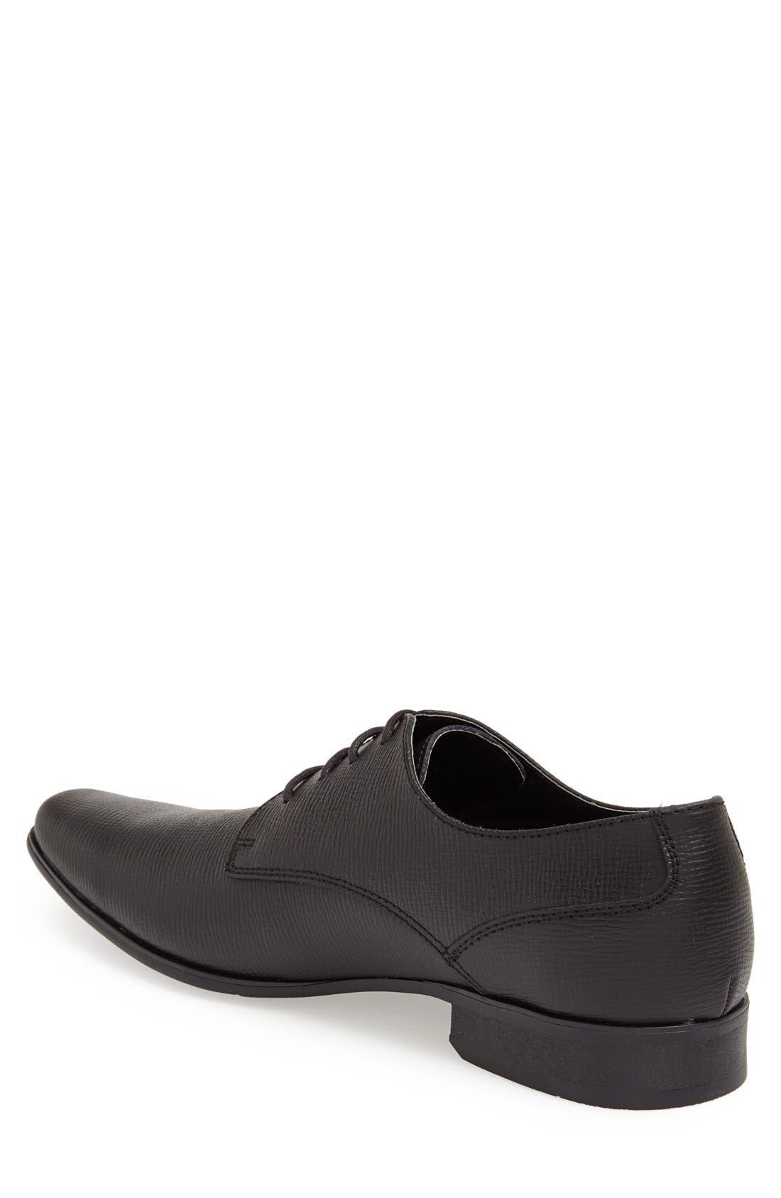 'Brodie' Plain Toe Derby,                             Alternate thumbnail 2, color,                             BLACK