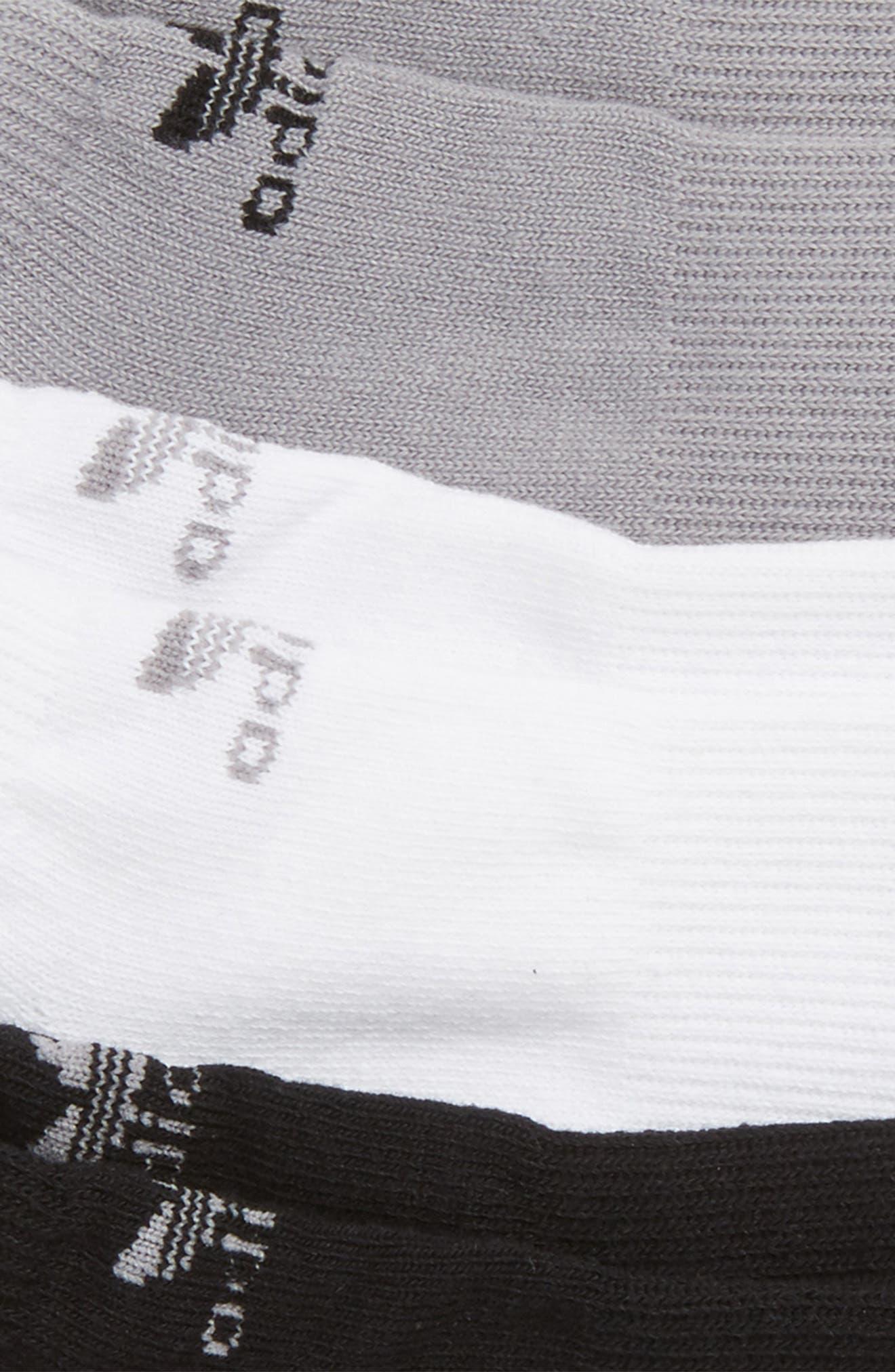 3-Pack No-Show Socks,                             Alternate thumbnail 2, color,