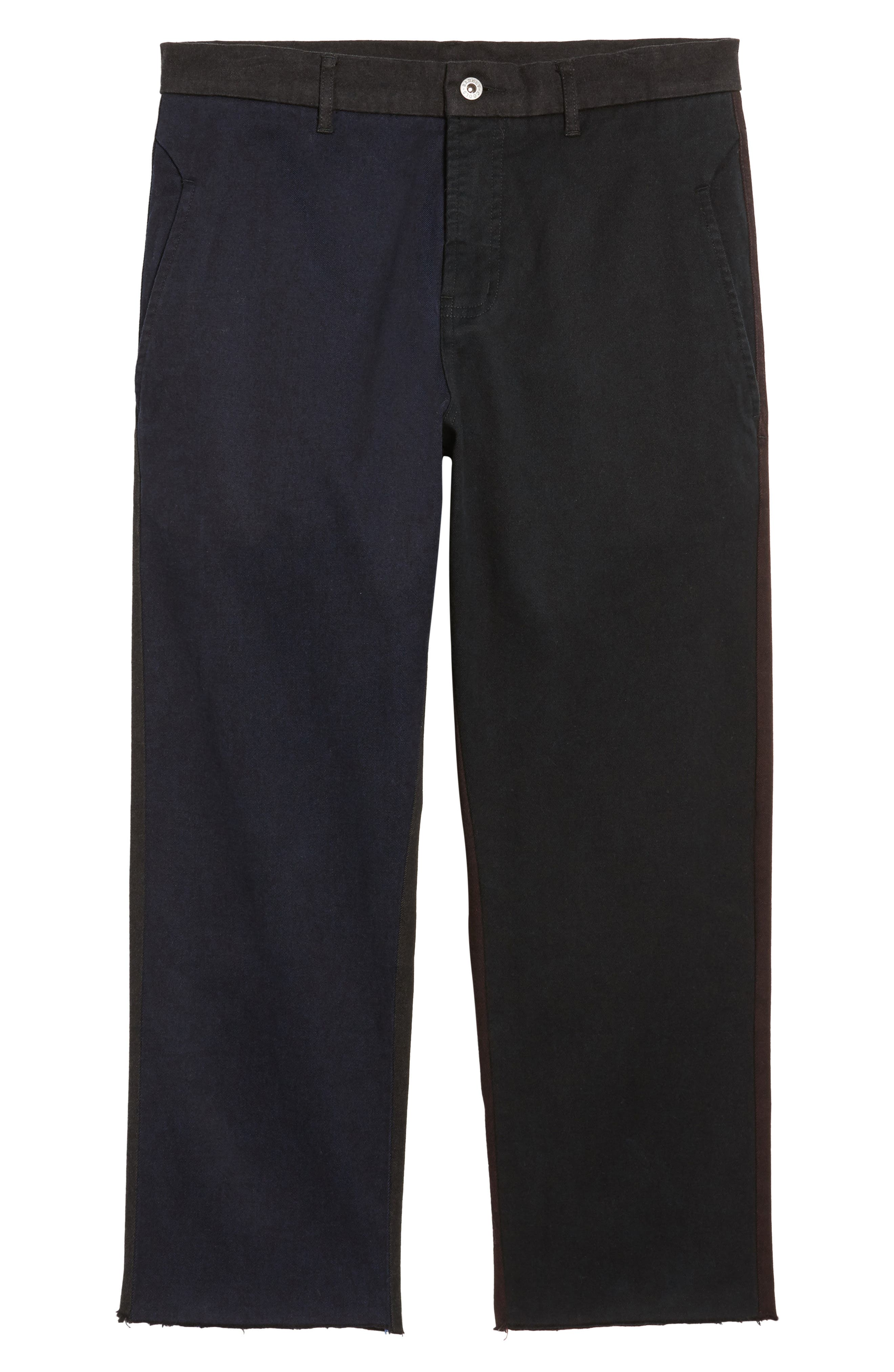 Chodus Crop Boxy Fit Chinos,                             Alternate thumbnail 6, color,                             001