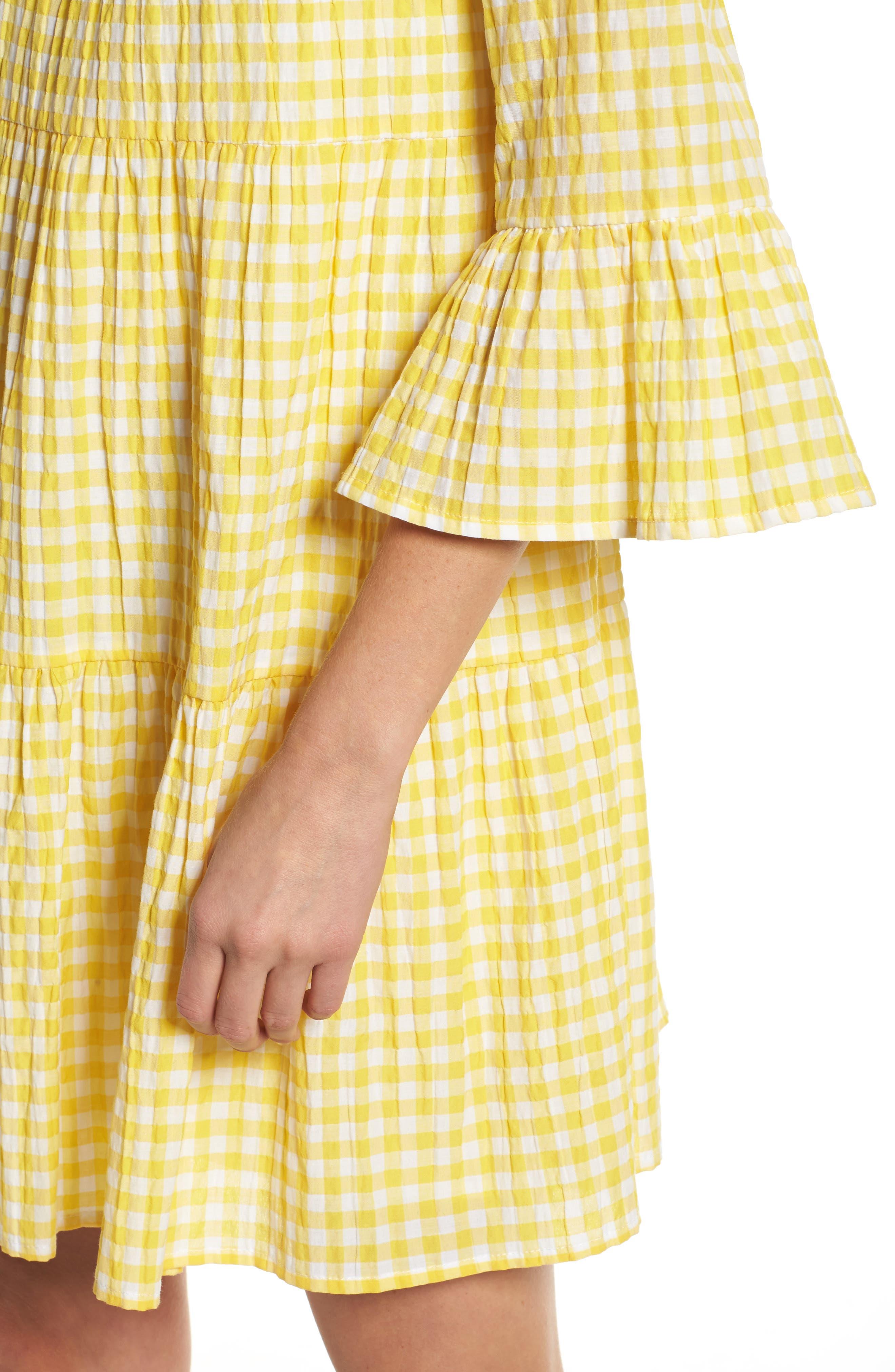 Gingham Swing Dress,                             Alternate thumbnail 4, color,                             740