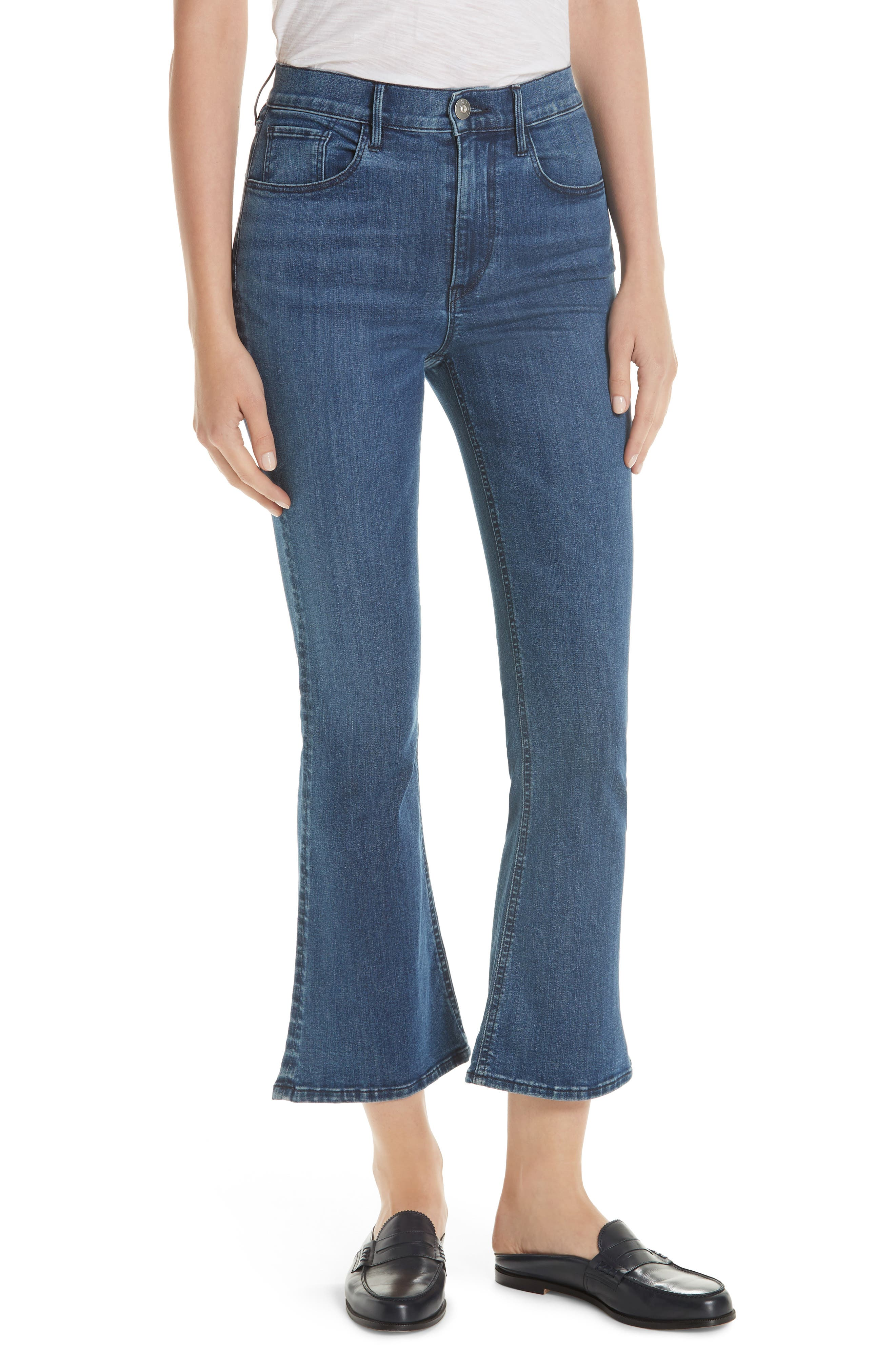 Crop Bootcut Jeans,                             Main thumbnail 1, color,                             ADRIANA